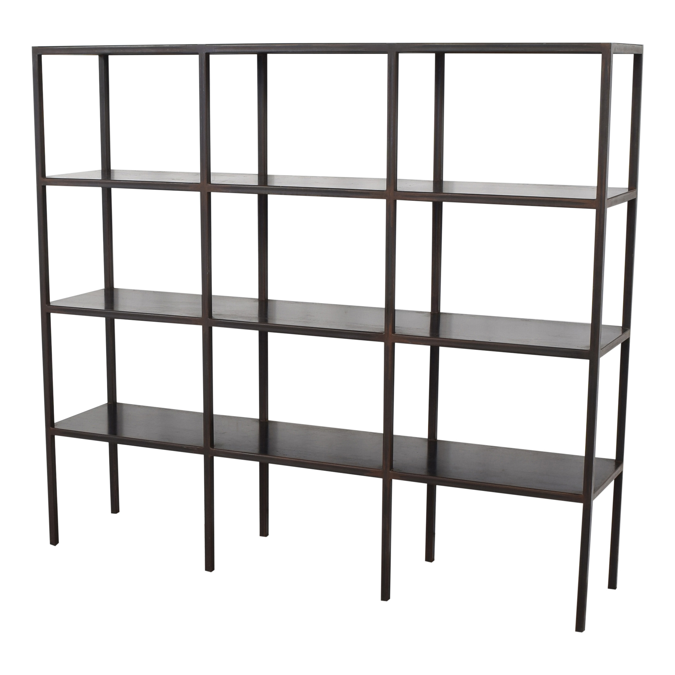 Canvas Home Industrial Grid Bookcase dimensions