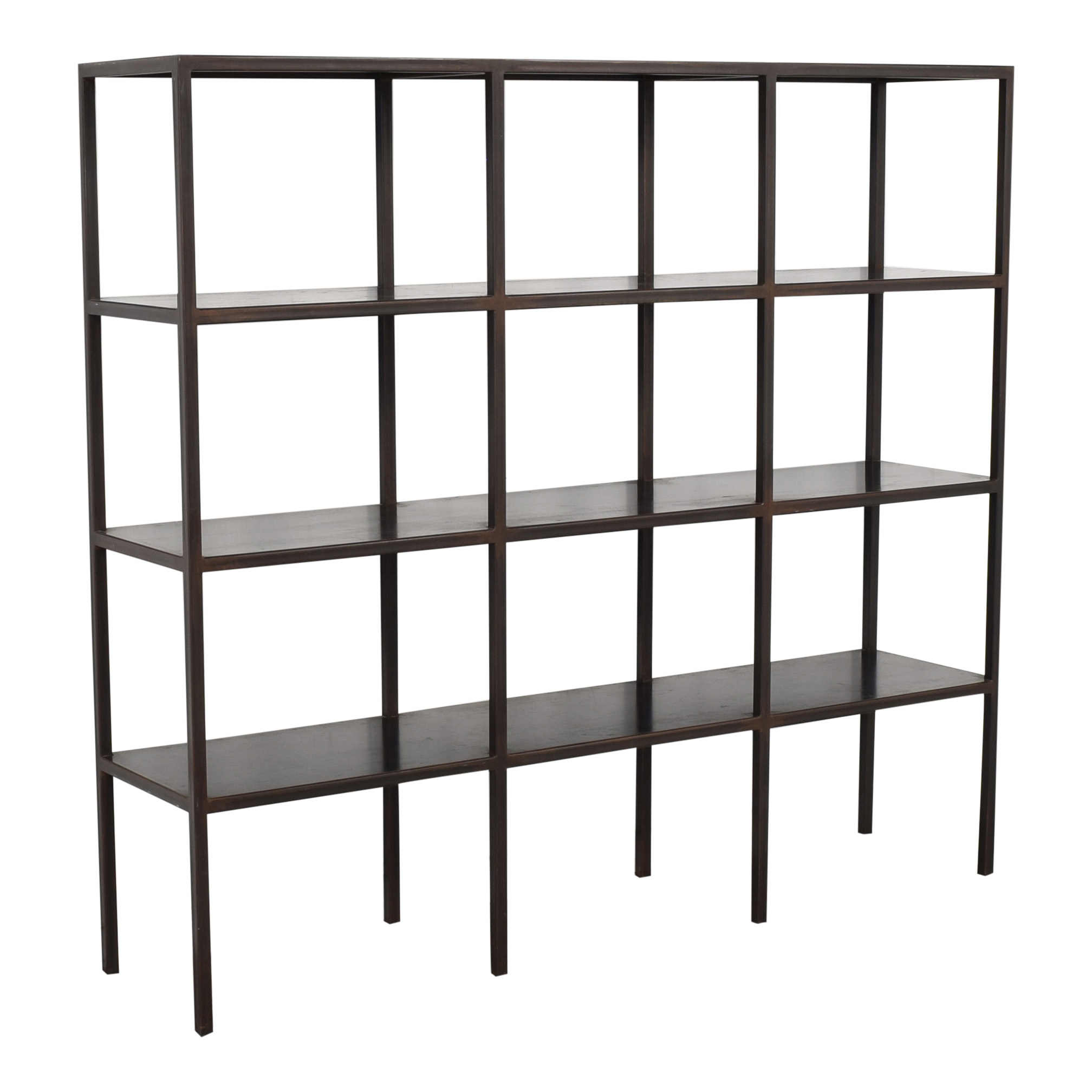 Canvas Home Industrial Grid Bookcase discount