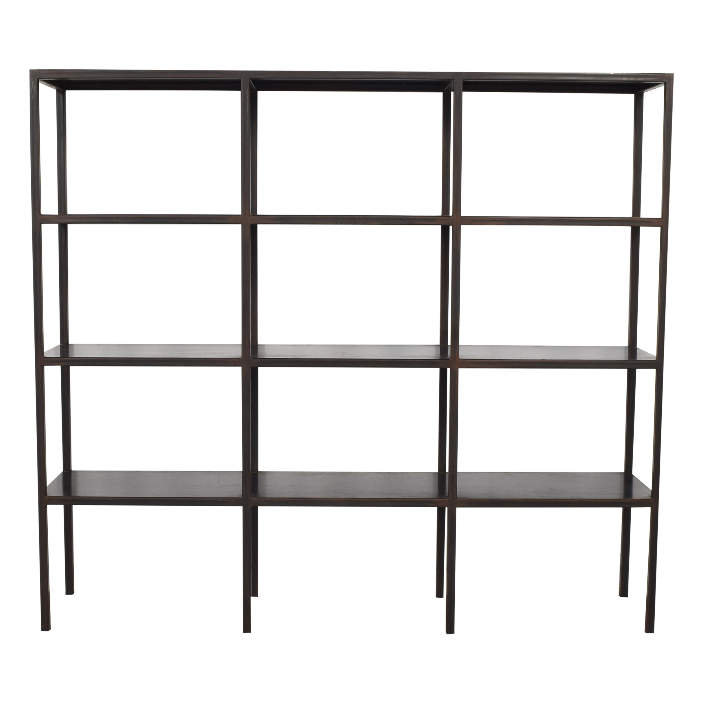 shop Industrial Grid Bookcase Canvas Home Bookcases & Shelving