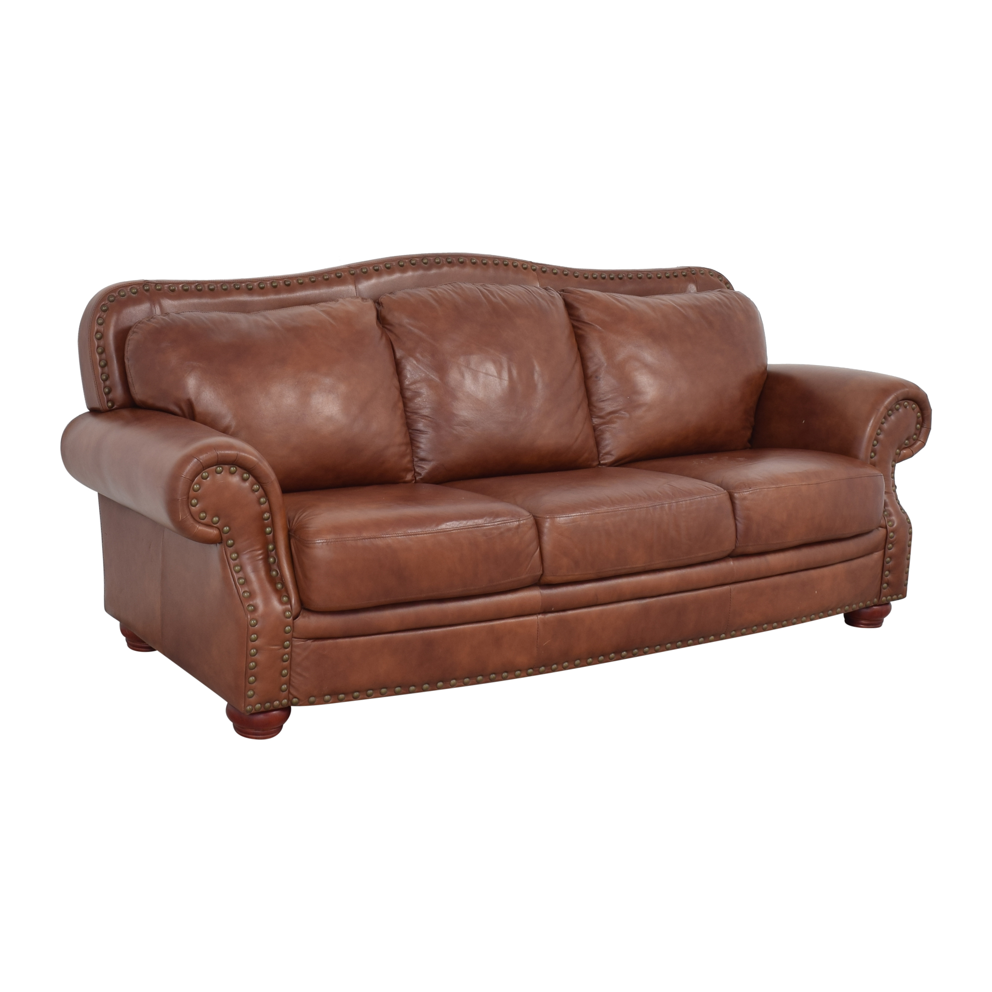 Rolled Arm Camel Back Sofa ma