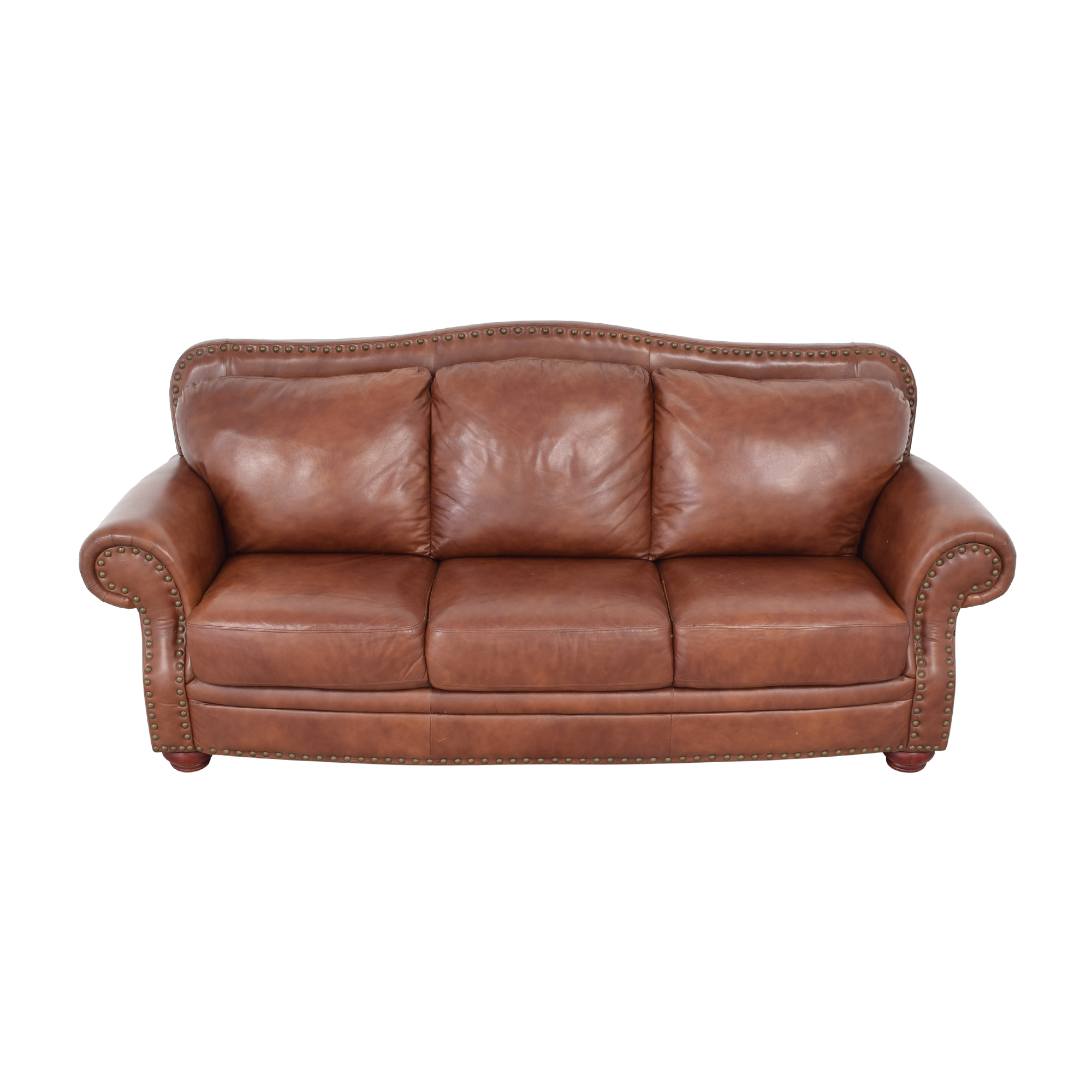 Rolled Arm Camel Back Sofa Sofas