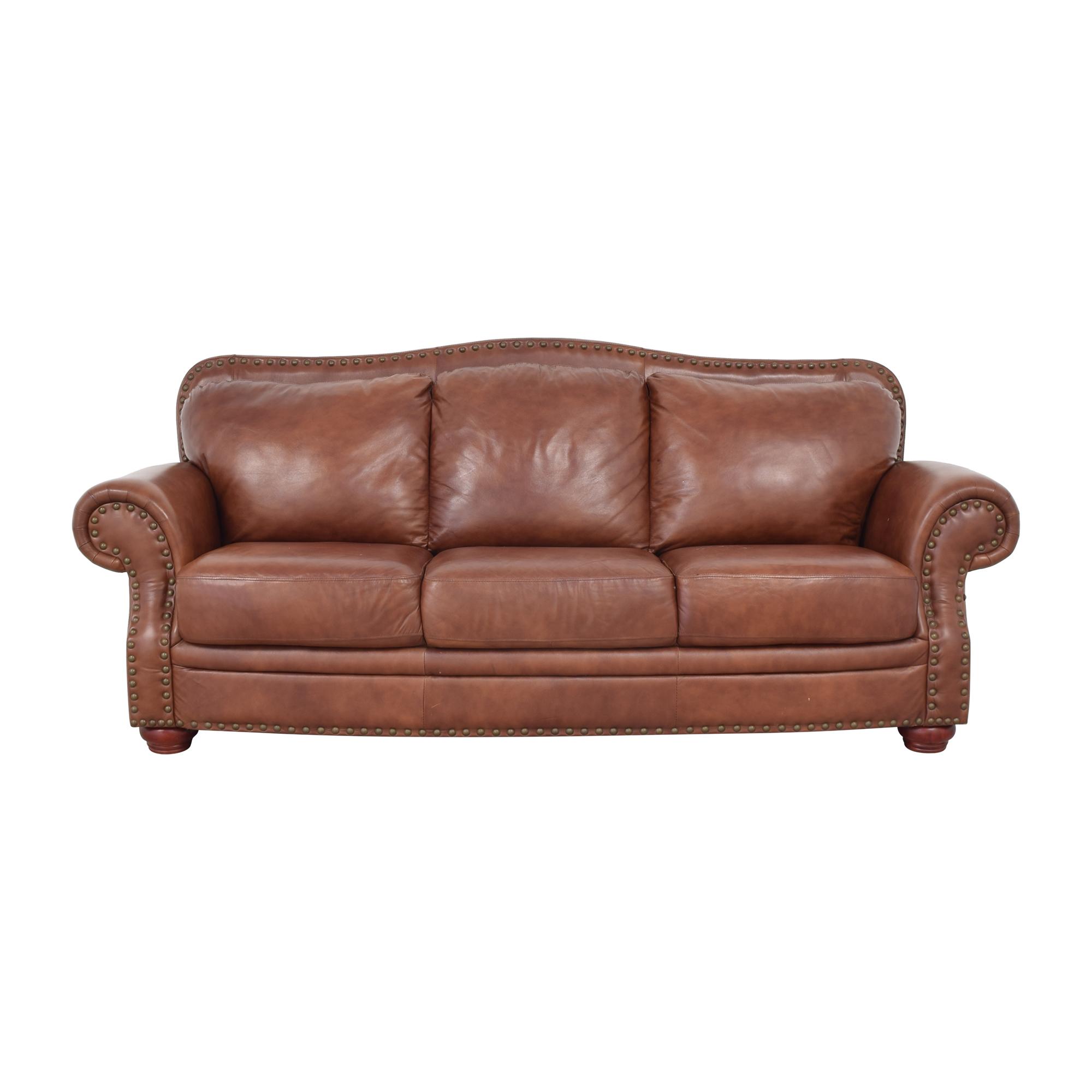 Rolled Arm Camel Back Sofa