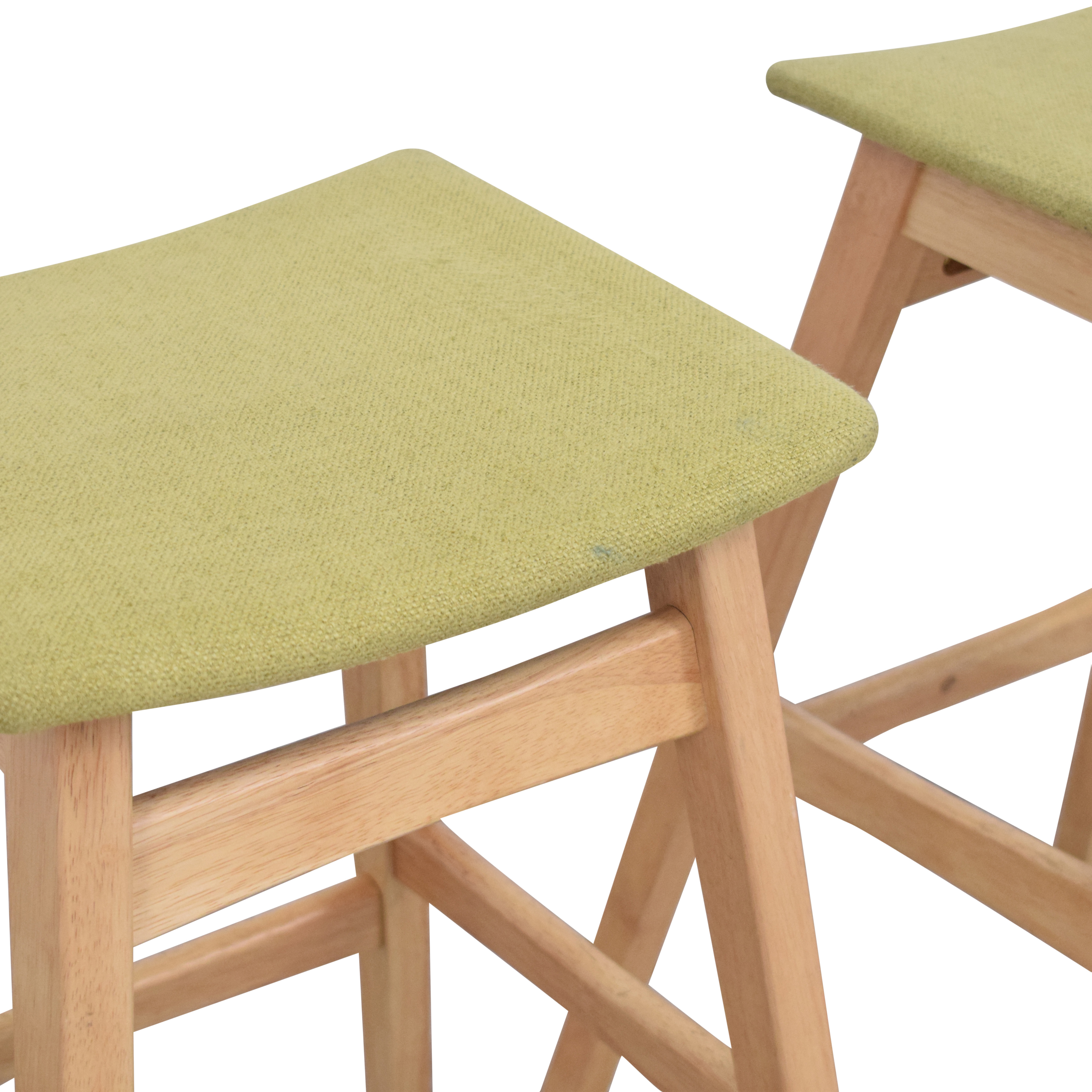 Noble House Noble House Teak Bar Stools with Green Cushion used
