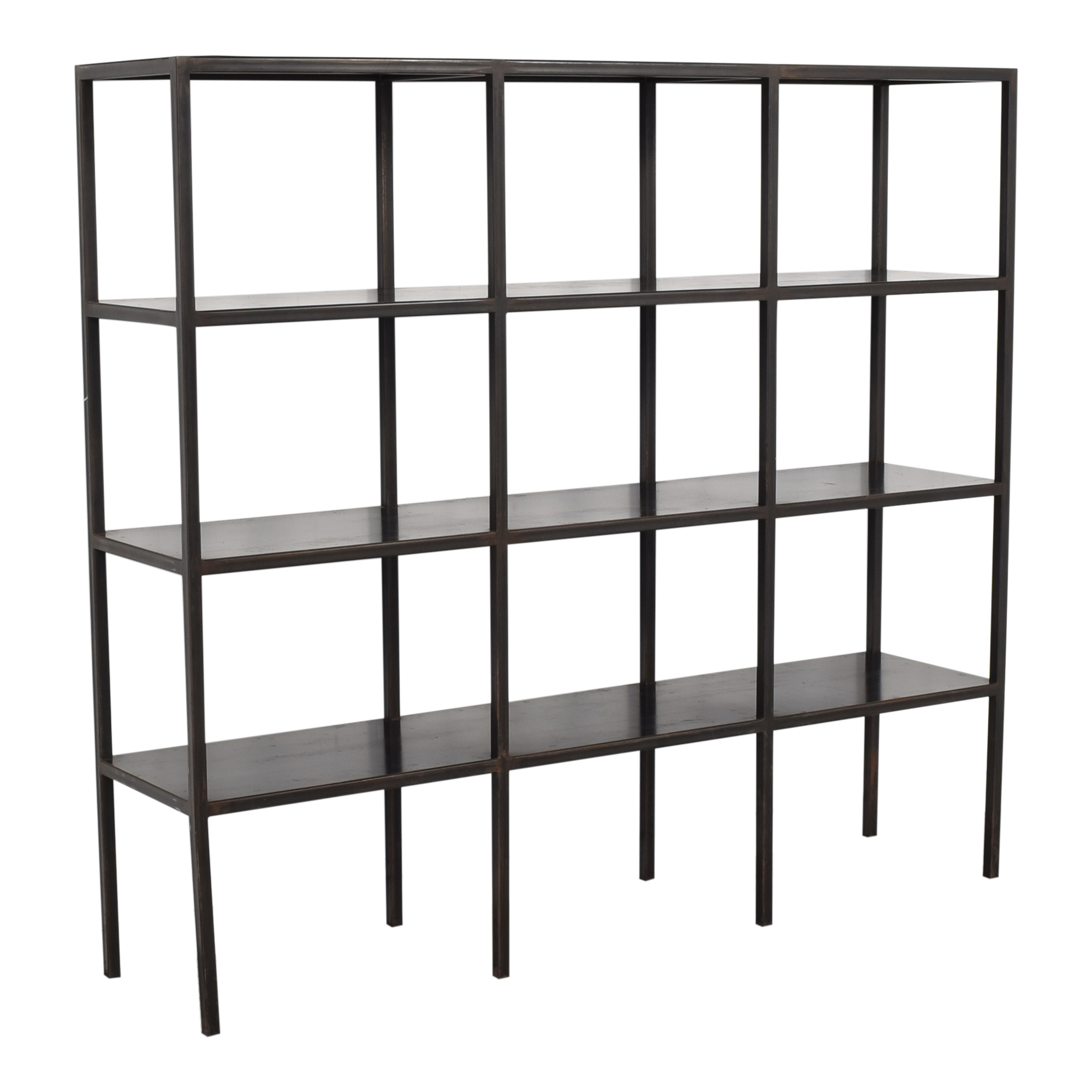 Industrial Grid Bookcase Canvas Home