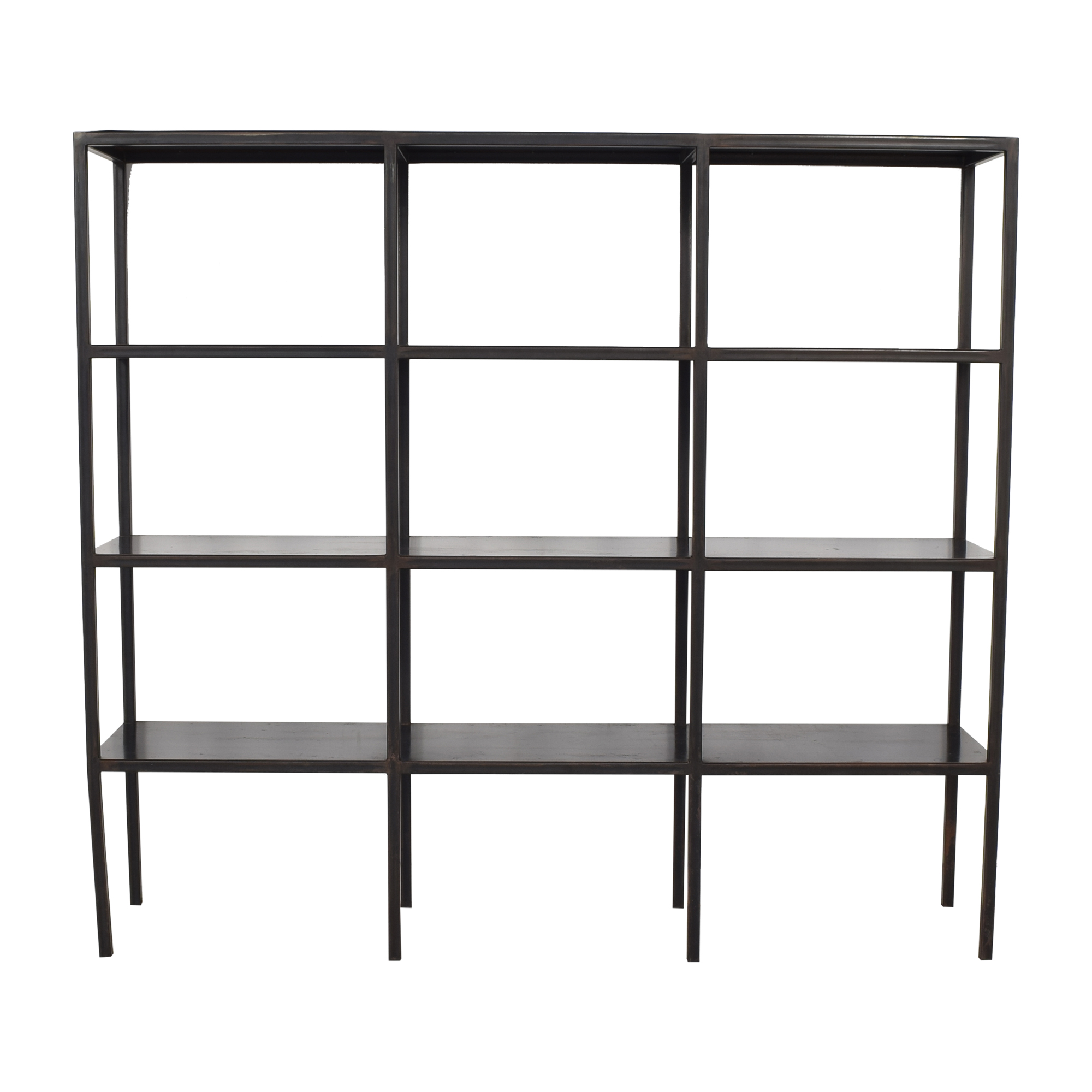 Canvas Home Industrial Grid Bookcase nyc