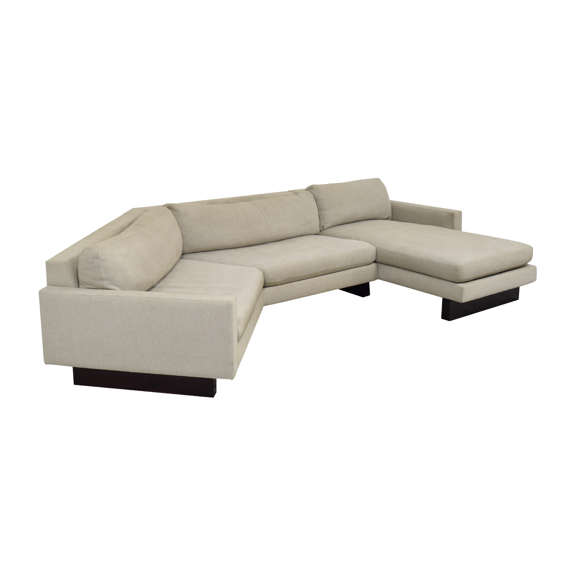 shop Room & Board Hess Angled Sectional with Chaise Room & Board Sofas