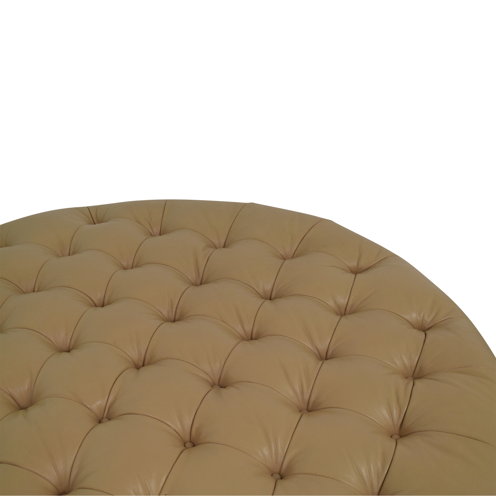 Vicente Wolf Vicente Wolf Round Tufted Ottoman nyc