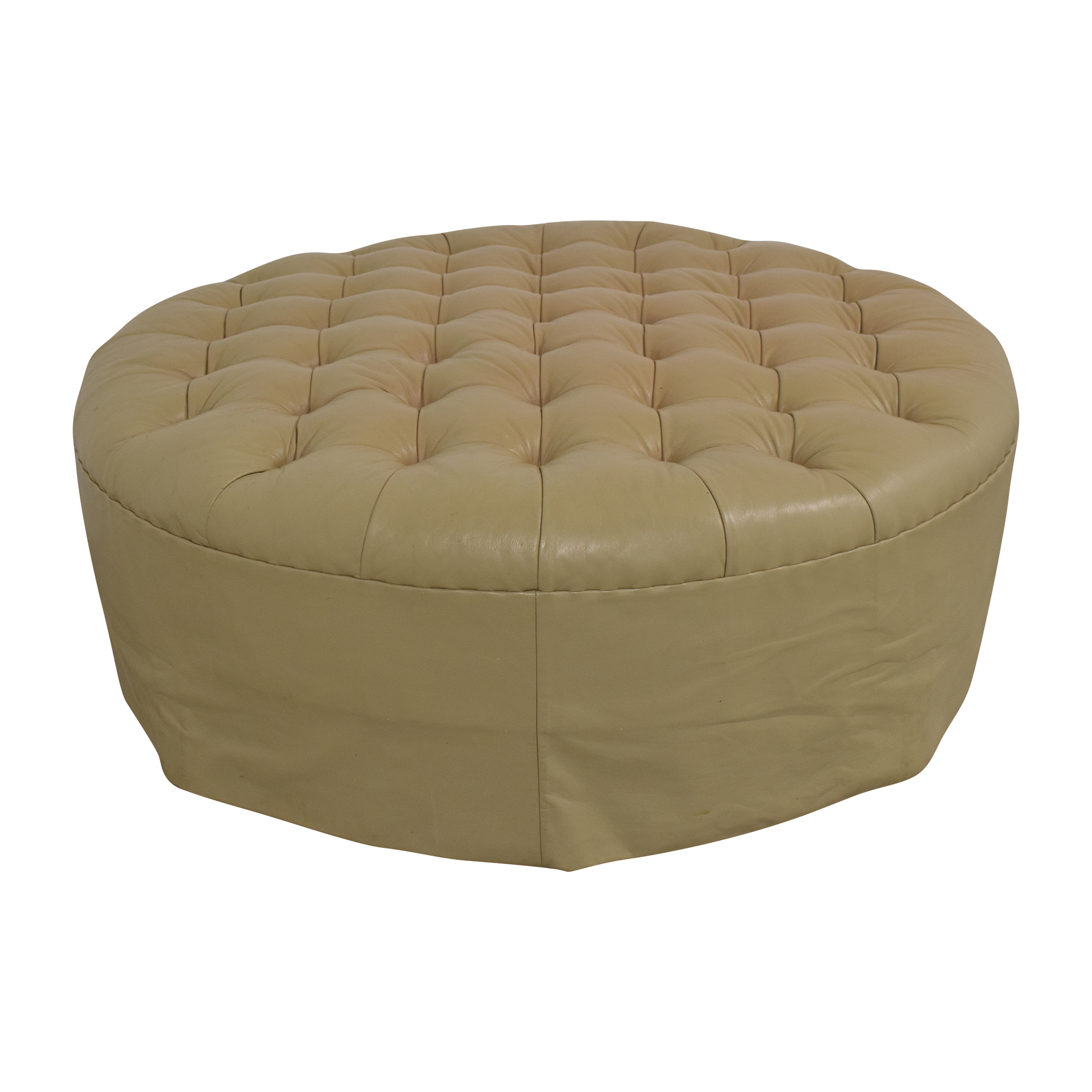 Vicente Wolf Vicente Wolf Round Tufted Ottoman nj