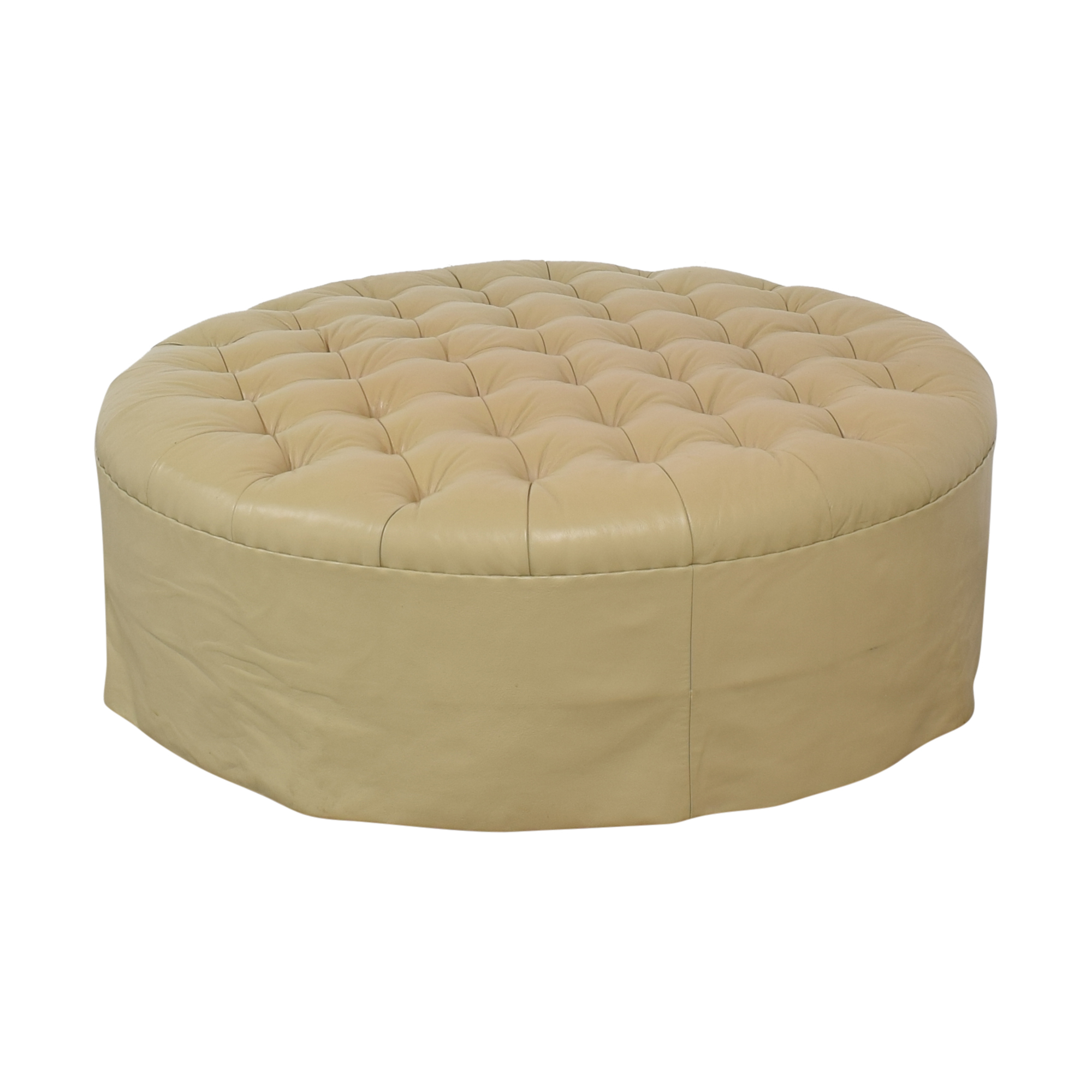 buy Vicente Wolf Round Tufted Ottoman Vicente Wolf Ottomans