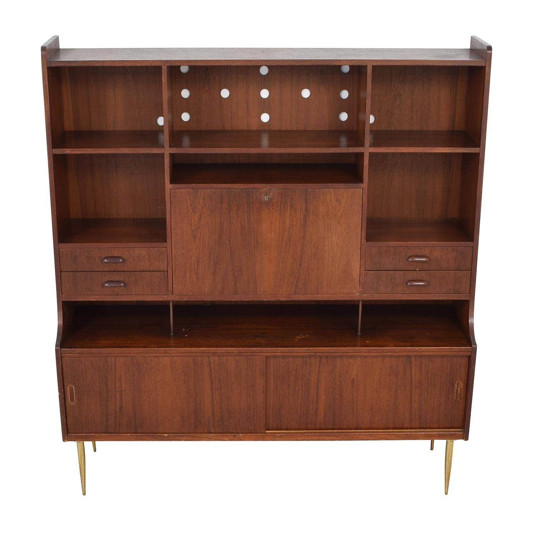 buy Vintage Mid-Century Hutch with Desk