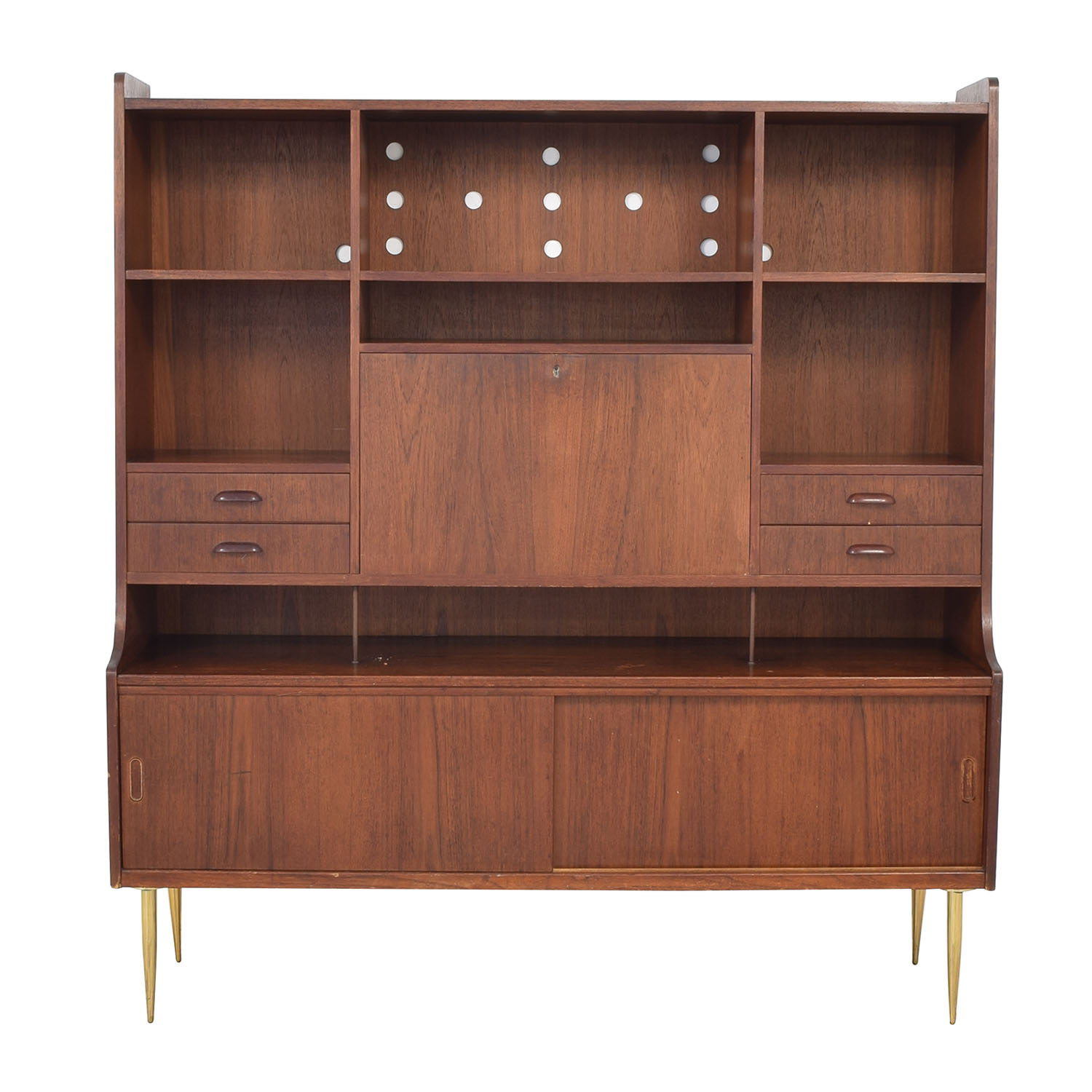 Vintage Mid-Century Hutch with Desk for sale
