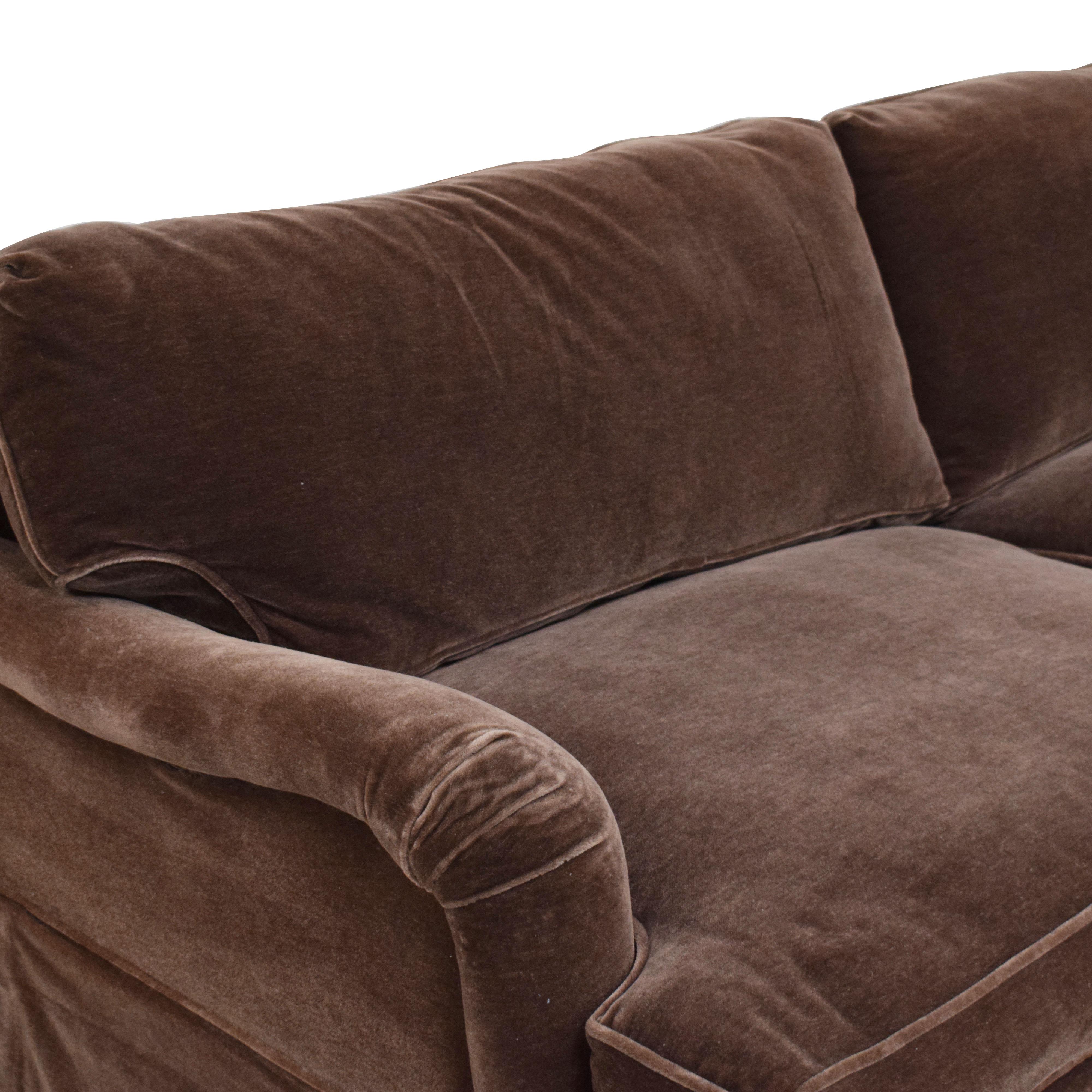Mohair Two Cushion Sofa nj