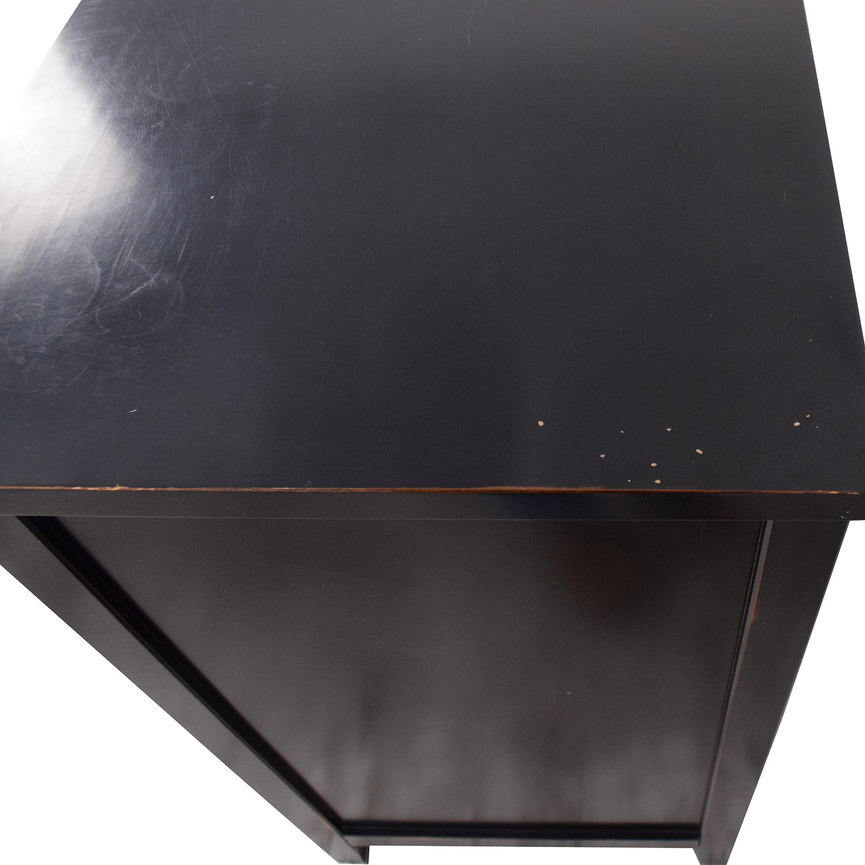 Crate & Barrel Crate & Barrel Three Drawer Nightstand black
