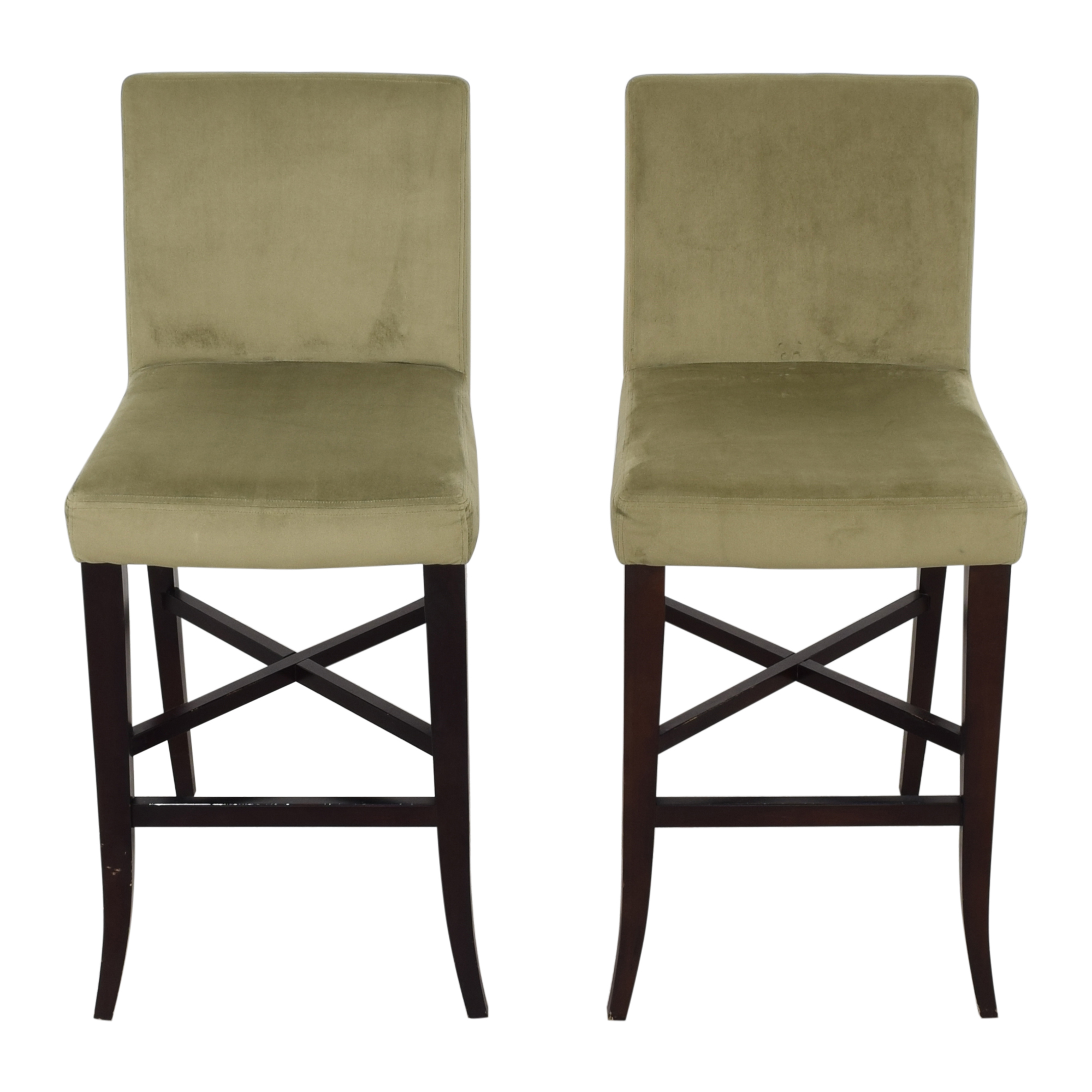 Crate & Barrel Upholstered Bar Stools sale