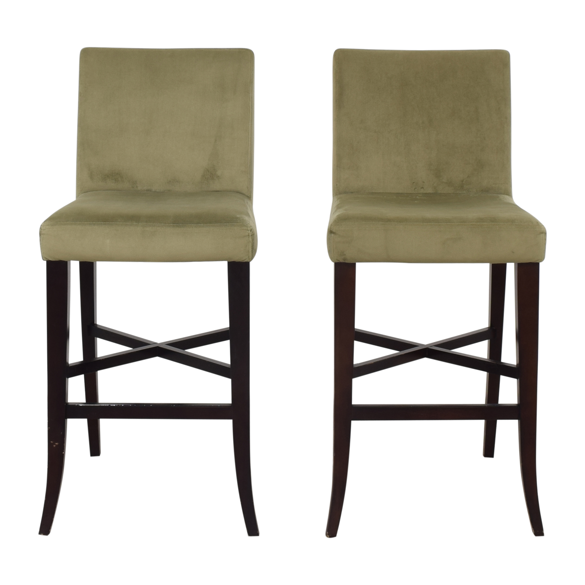 Crate & Barrel Crate & Barrel Upholstered Bar Stools Chairs