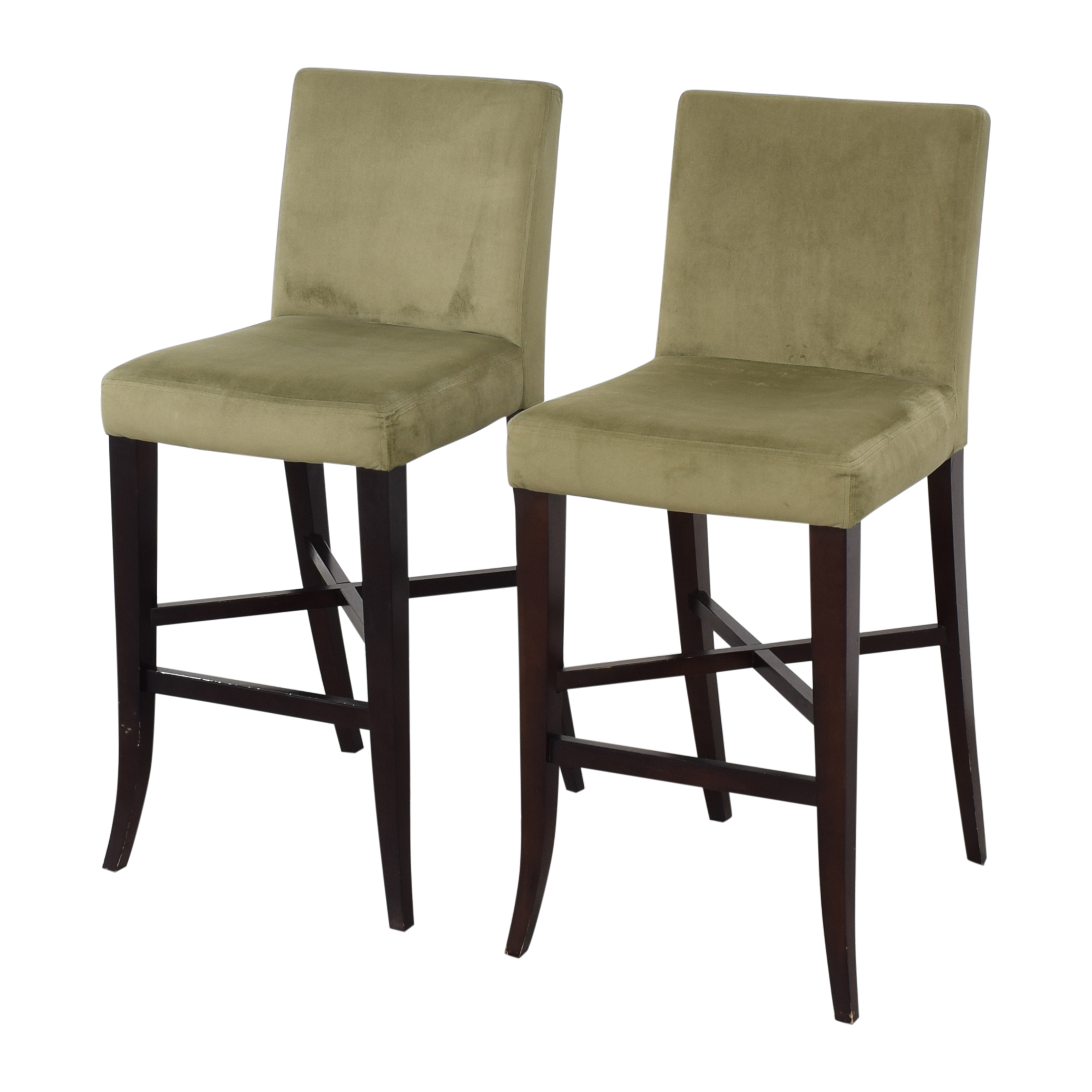 Crate & Barrel Upholstered Bar Stools Crate & Barrel