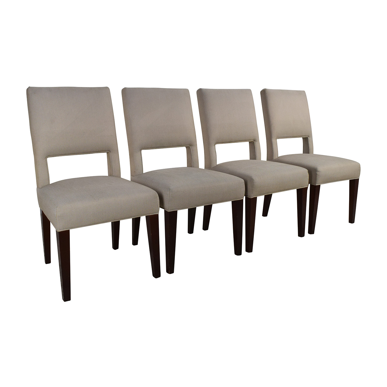 87% OFF Set of 4 Custom Dining Chairs Chairs
