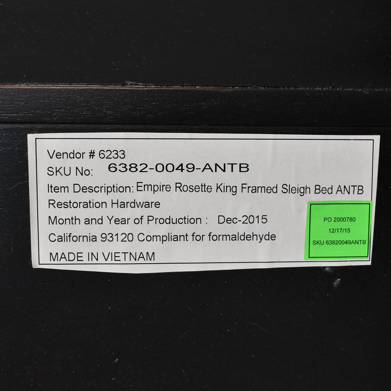 Restoration Hardware Restoration Hardware Empire Rosette King Sleigh Bed on sale