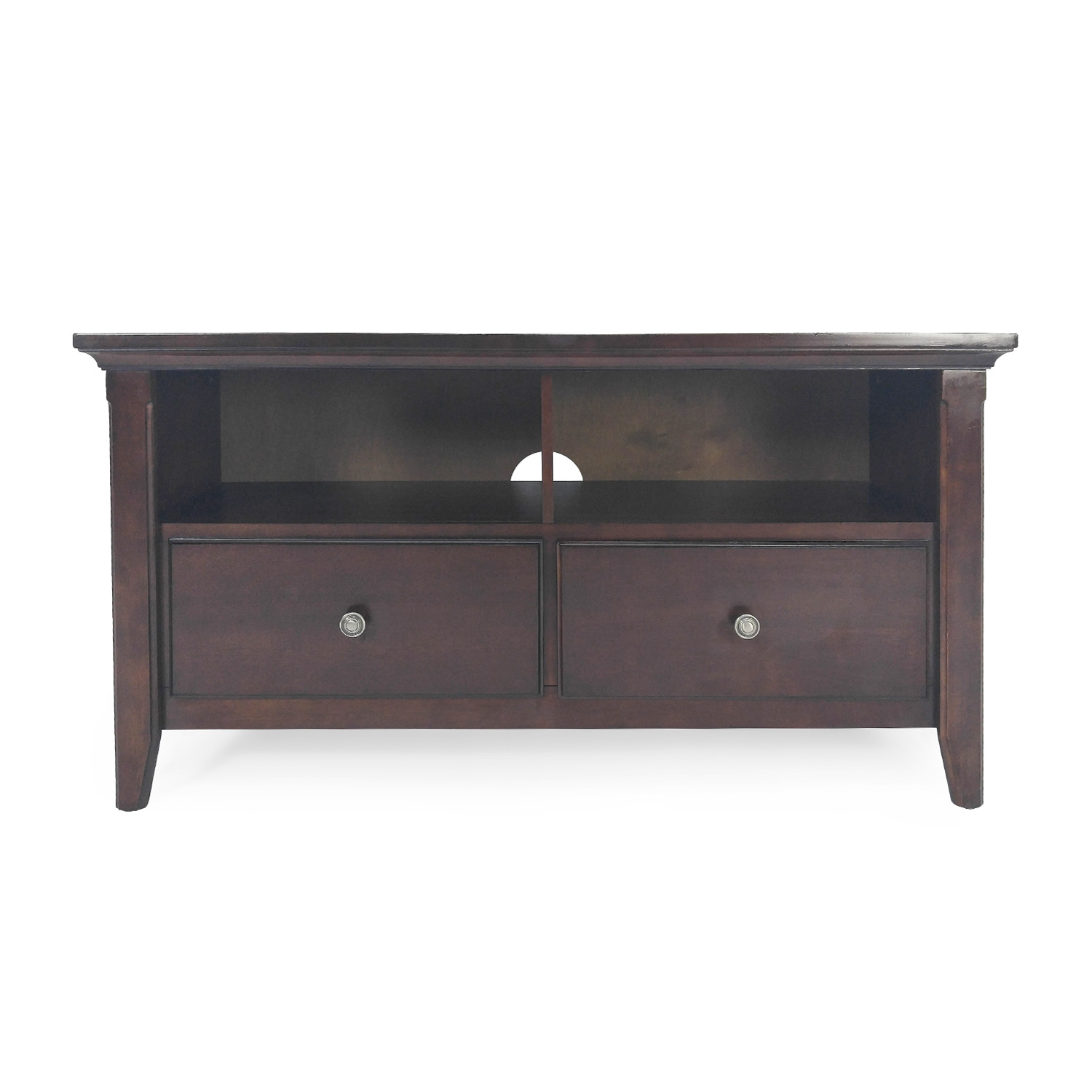 buy Cherry Wood Entertainment Center Unknown Brand Media Units
