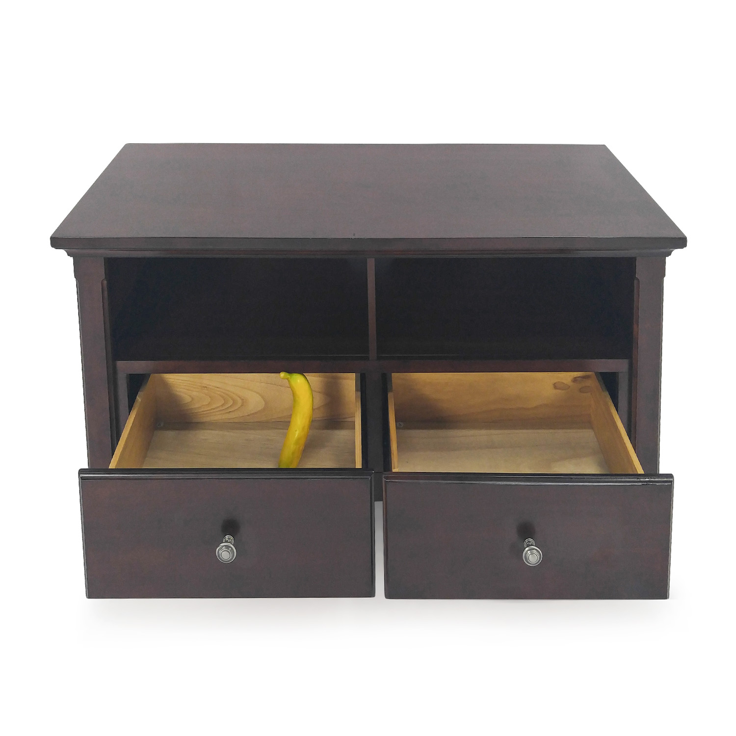 ... Buy Cherry Wood Entertainment Center Unknown Brand Storage ...