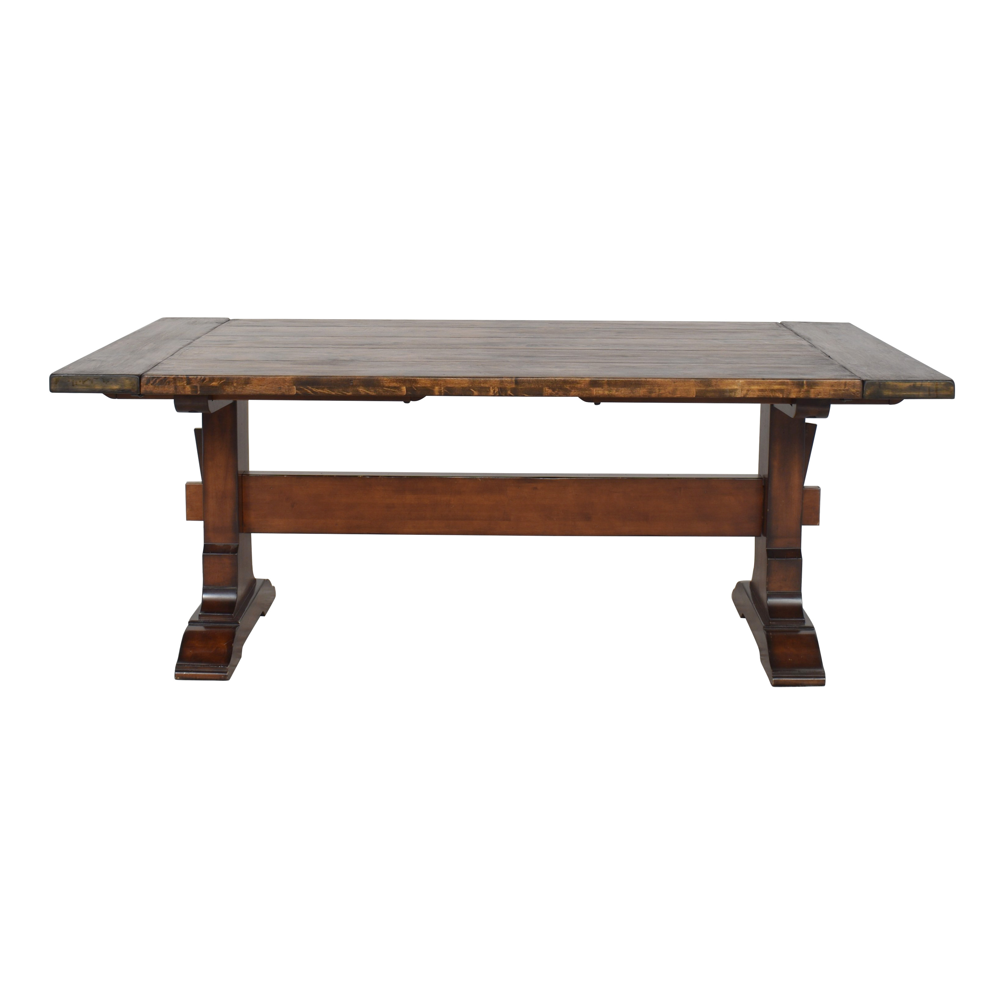 Pottery Barn Pottery Barn Trestle Dining Table brown