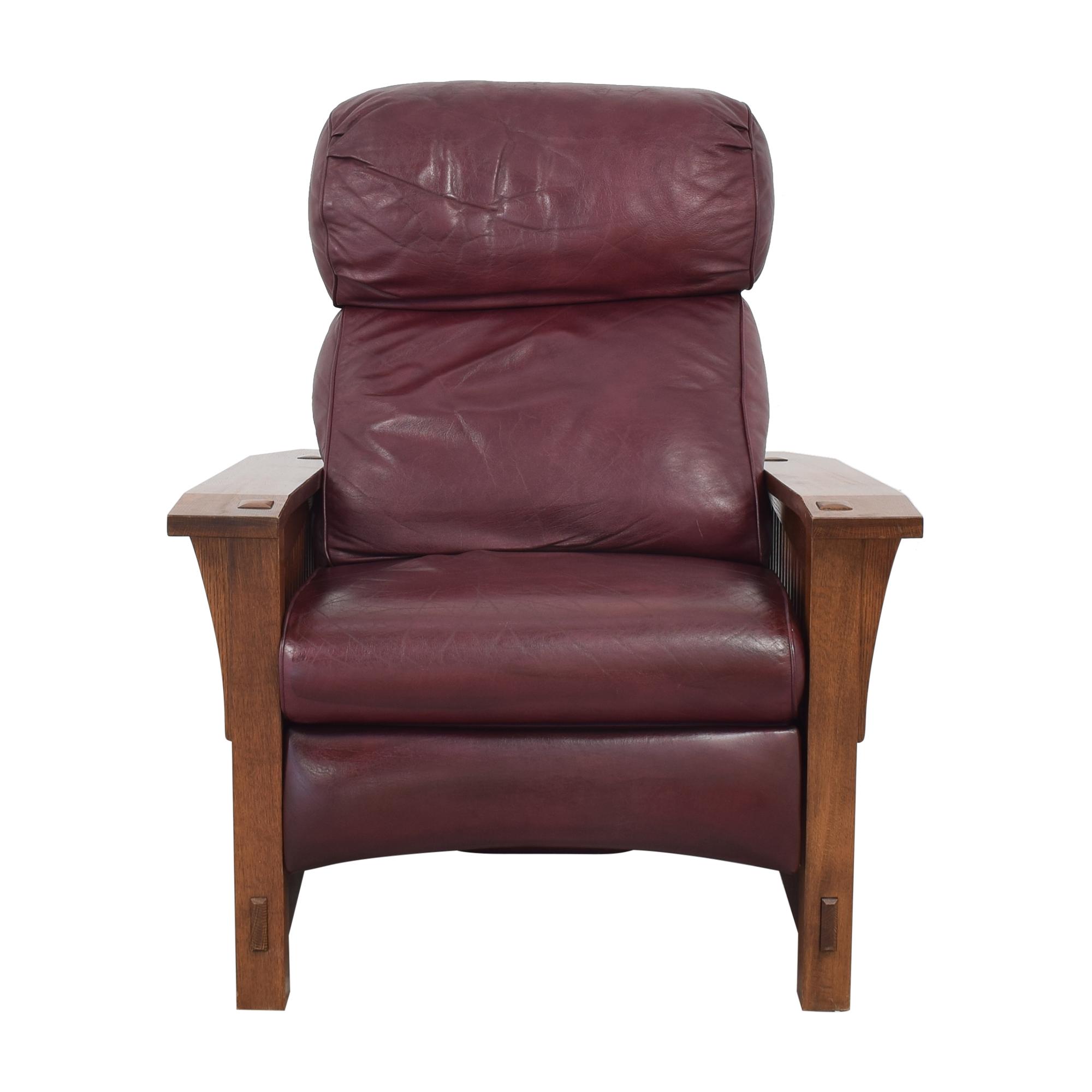 Stickley Furniture Stickley Spindle Morris Recliner red & brown