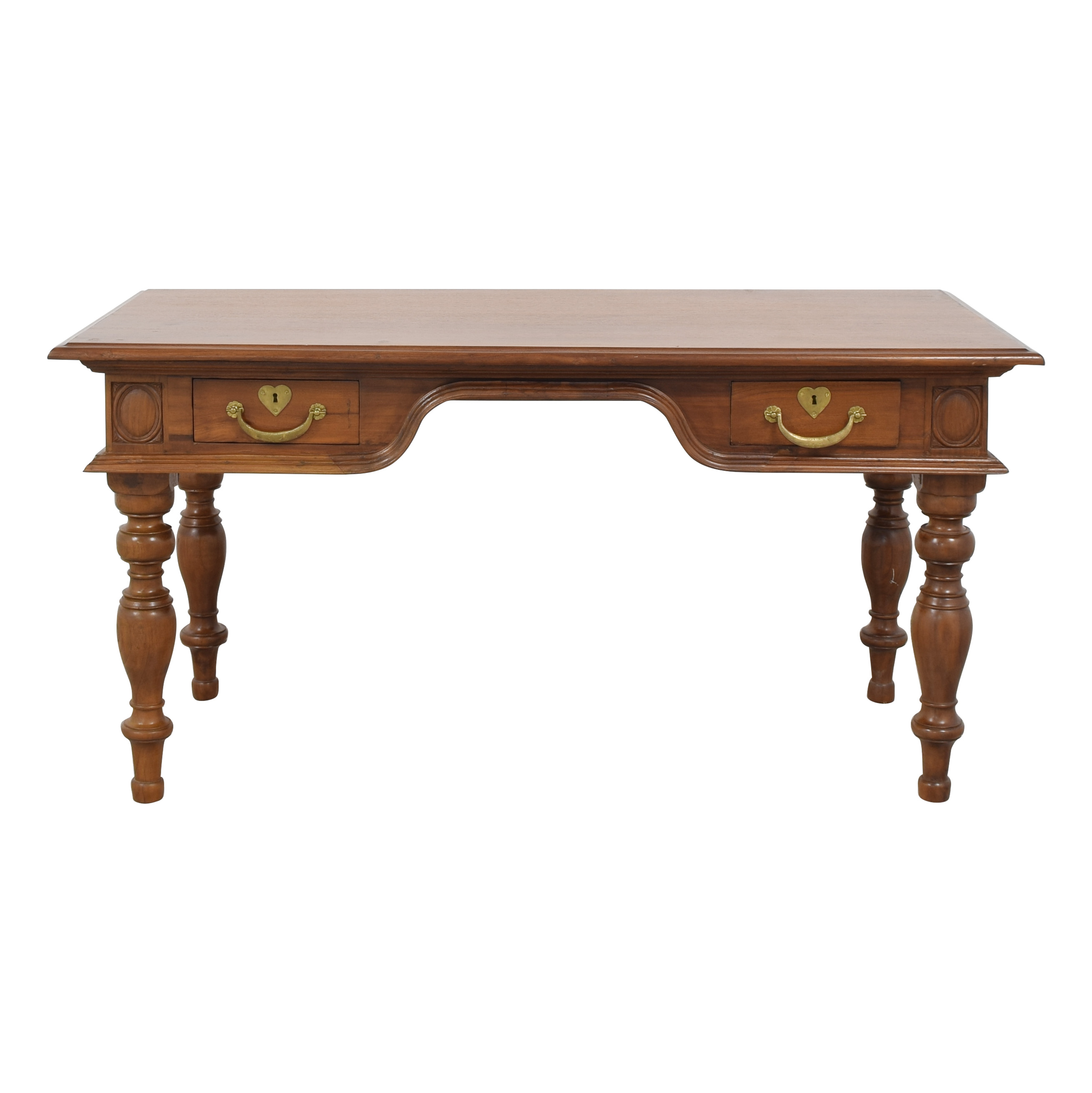 buy Dutch Colonial Two Drawer Desk  Tables