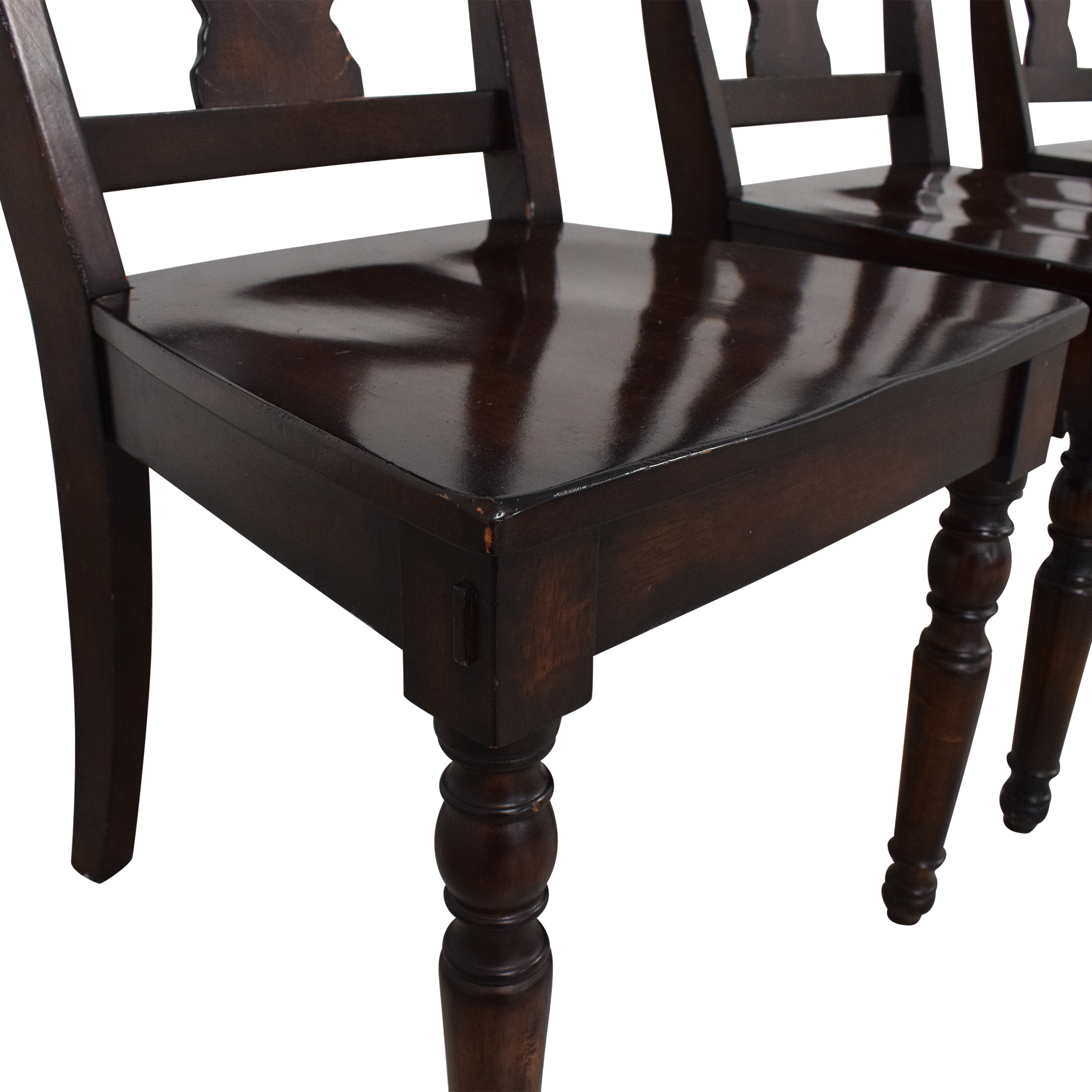Pottery Barn Pottery Barn Fiddleback Dining Chairs dimensions