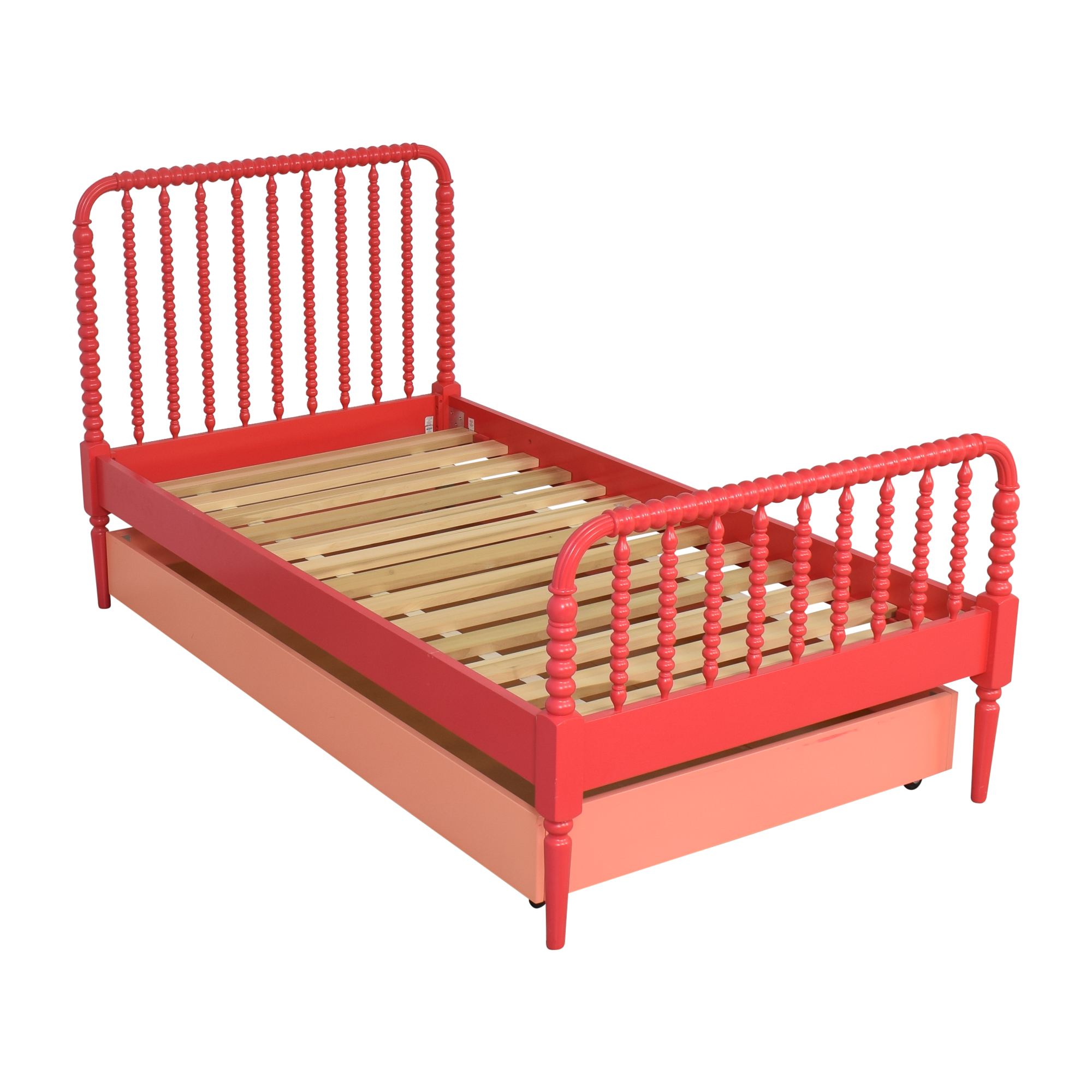 shop Land of Nod Jenny Lind Twin Bed and Trundle Land of Nod