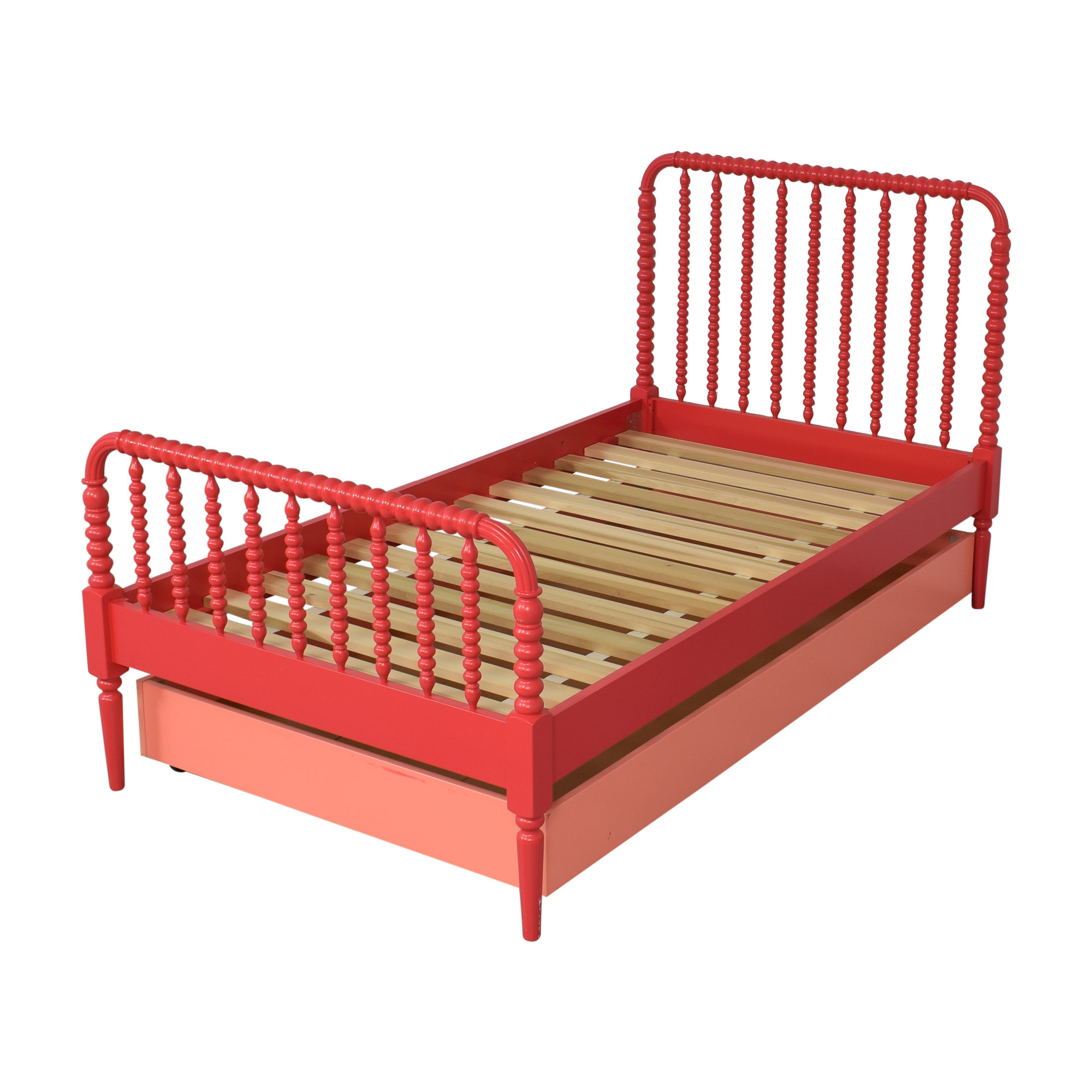 shop Land of Nod Jenny Lind Twin Bed and Trundle Land of Nod Beds