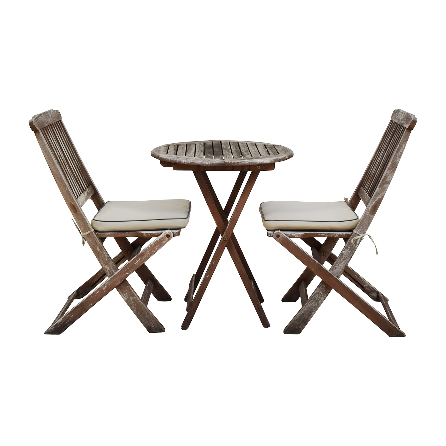 buy Outdoor Interiors Outdoor Interiors Rustic Patio Dining Table and Chairs online