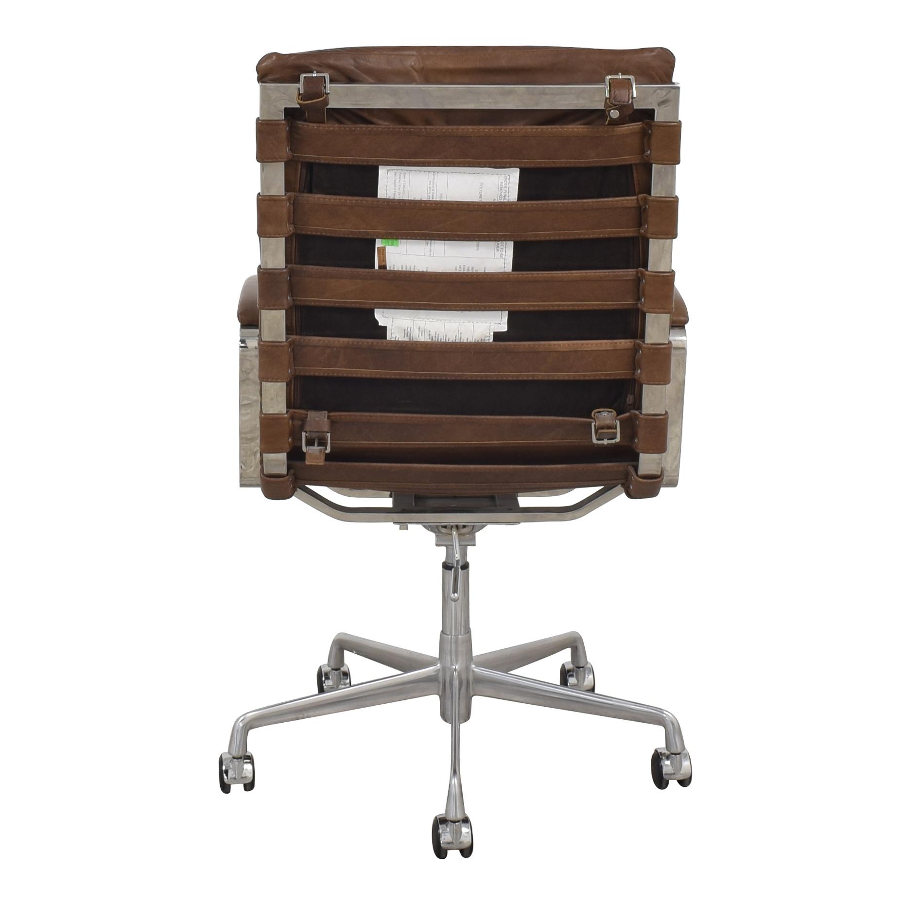 Restoration Hardware Restoration Hardware Oviedo Leather Desk Chair nj