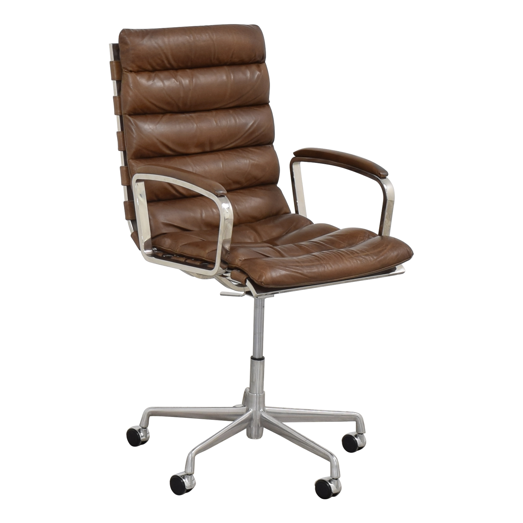 Restoration Hardware Oviedo Leather Desk Chair / Home Office Chairs