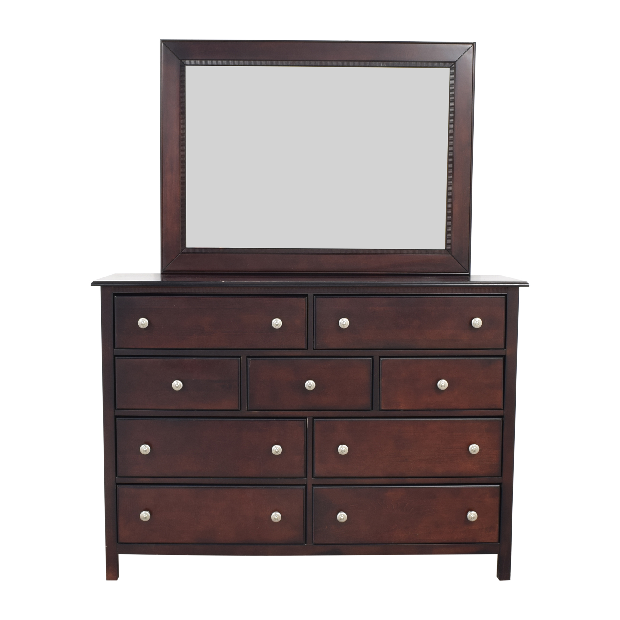 shop Cresent Murray Hill 9-Drawer Dresser with Mirror Cresent Furniture Storage