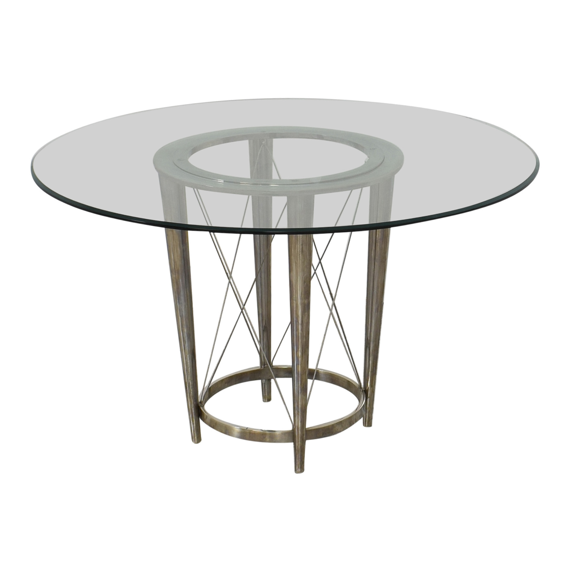 Glass Top Pedestal Dining Table nj