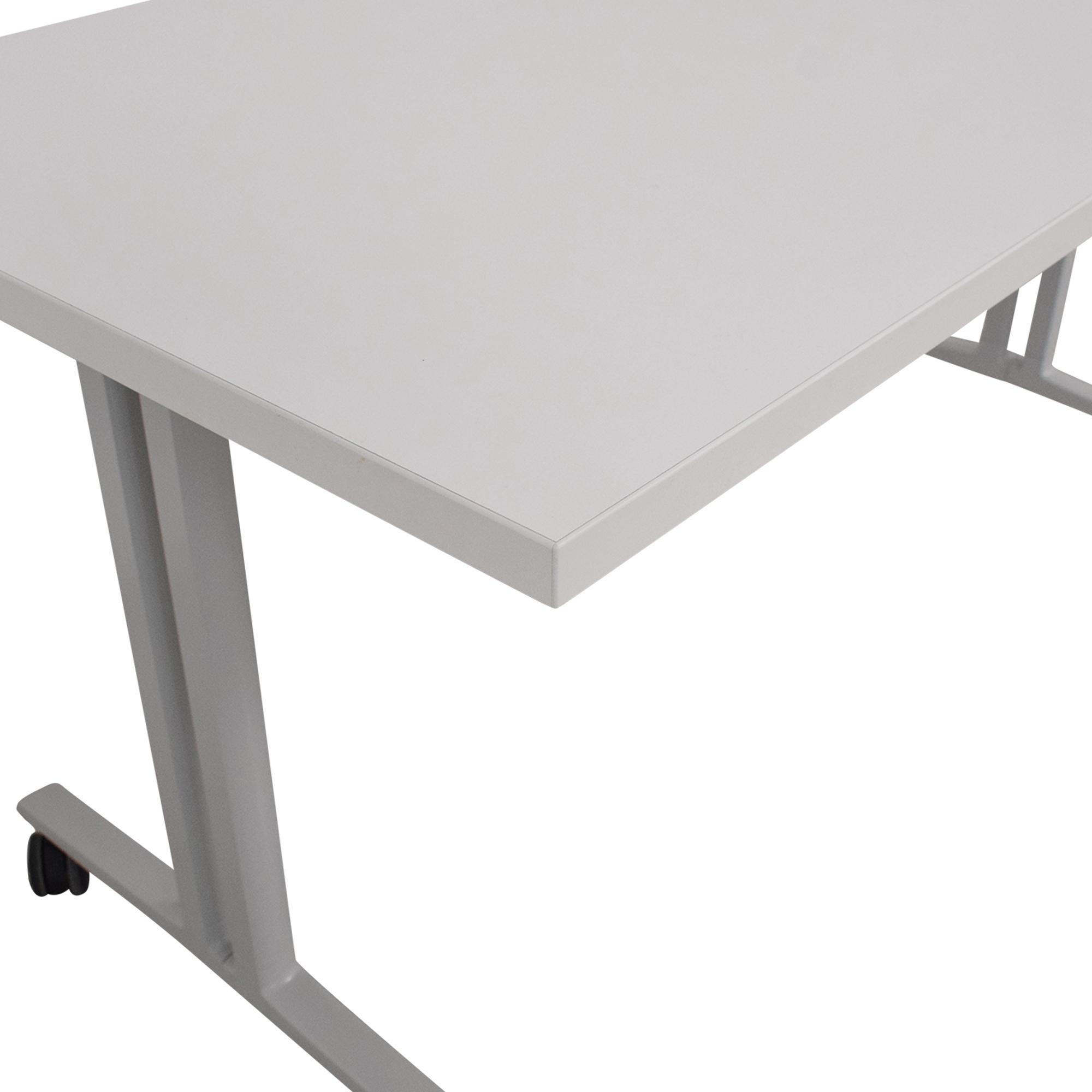 buy Herman Miller White Everywhere Tables Flip-Top Desk Herman Miller Tables