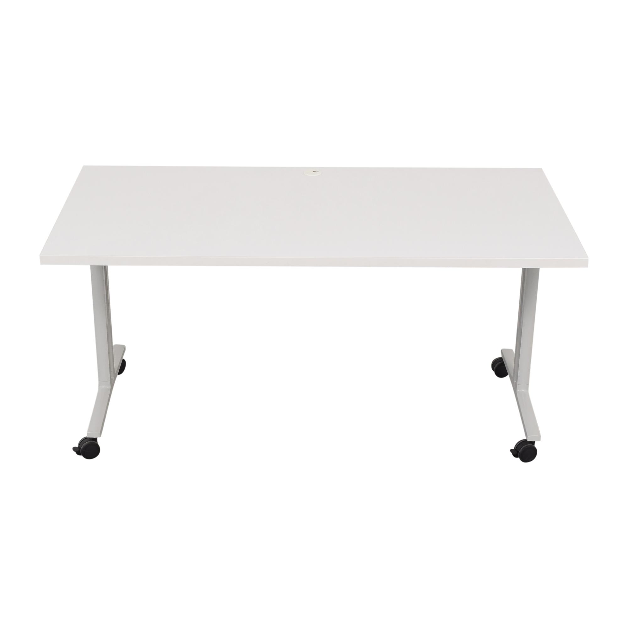 Herman Miller White Everywhere Tables Flip-Top Desk Herman Miller