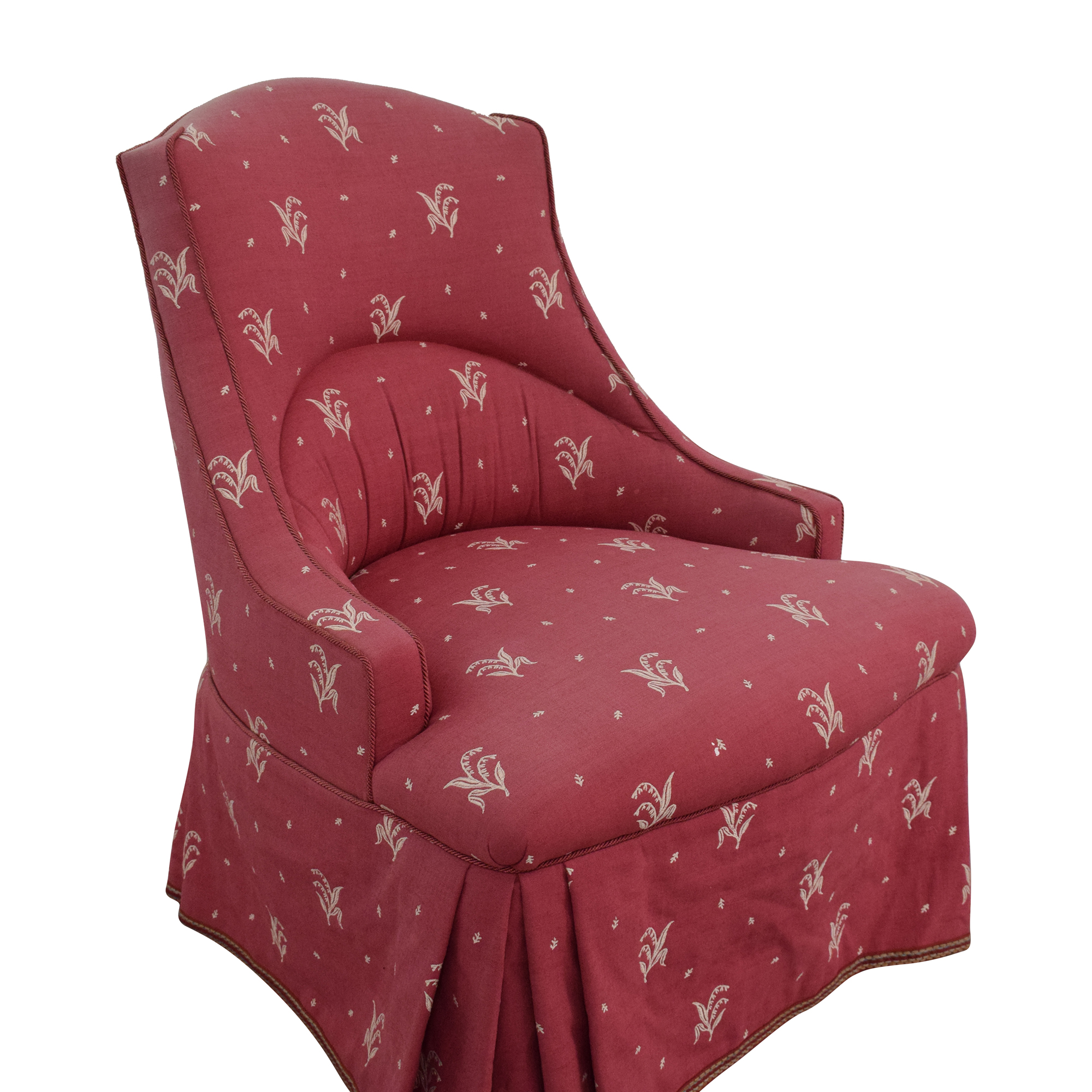 Patterned Skirted Slipper Chair coupon