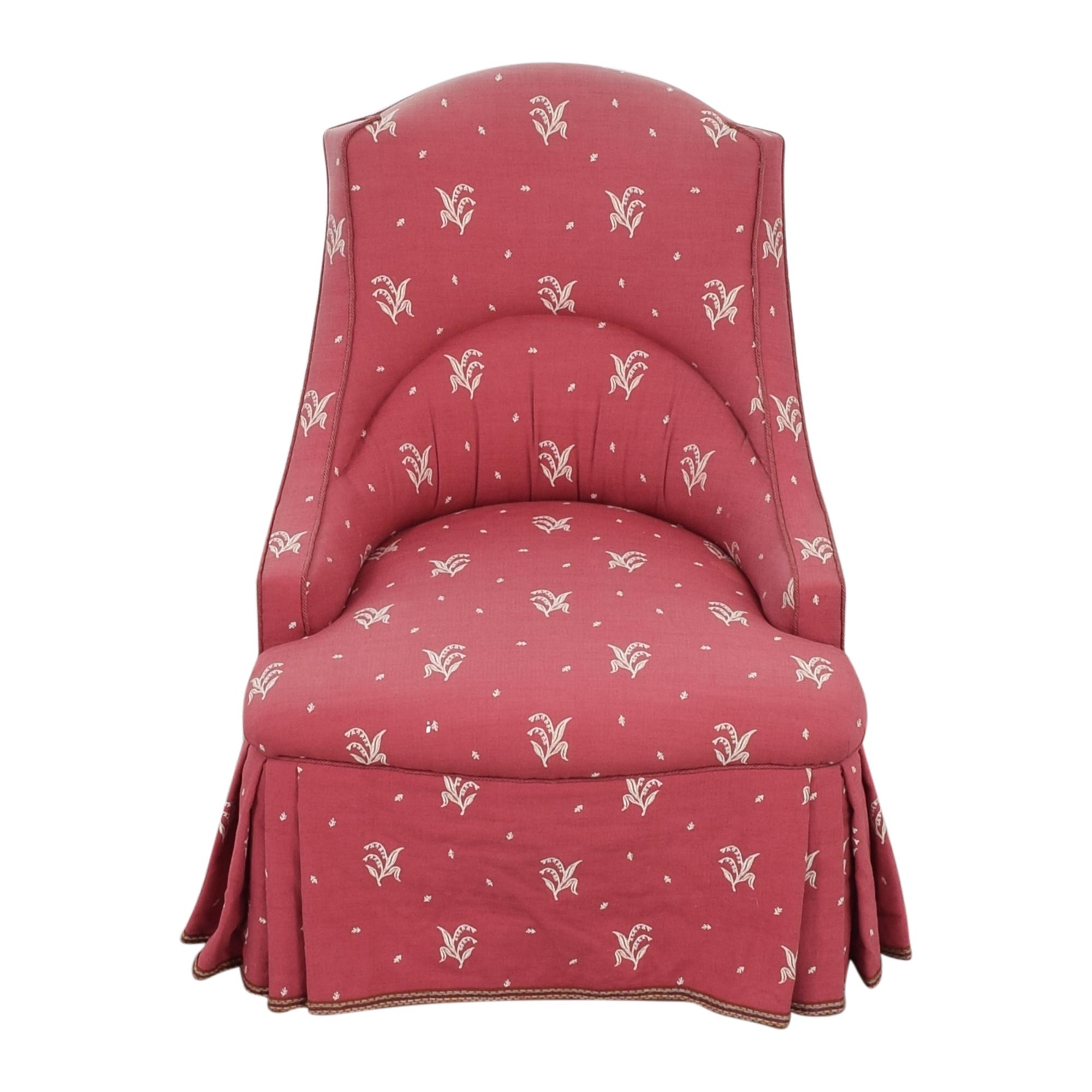 buy  Patterned Skirted Slipper Chair online