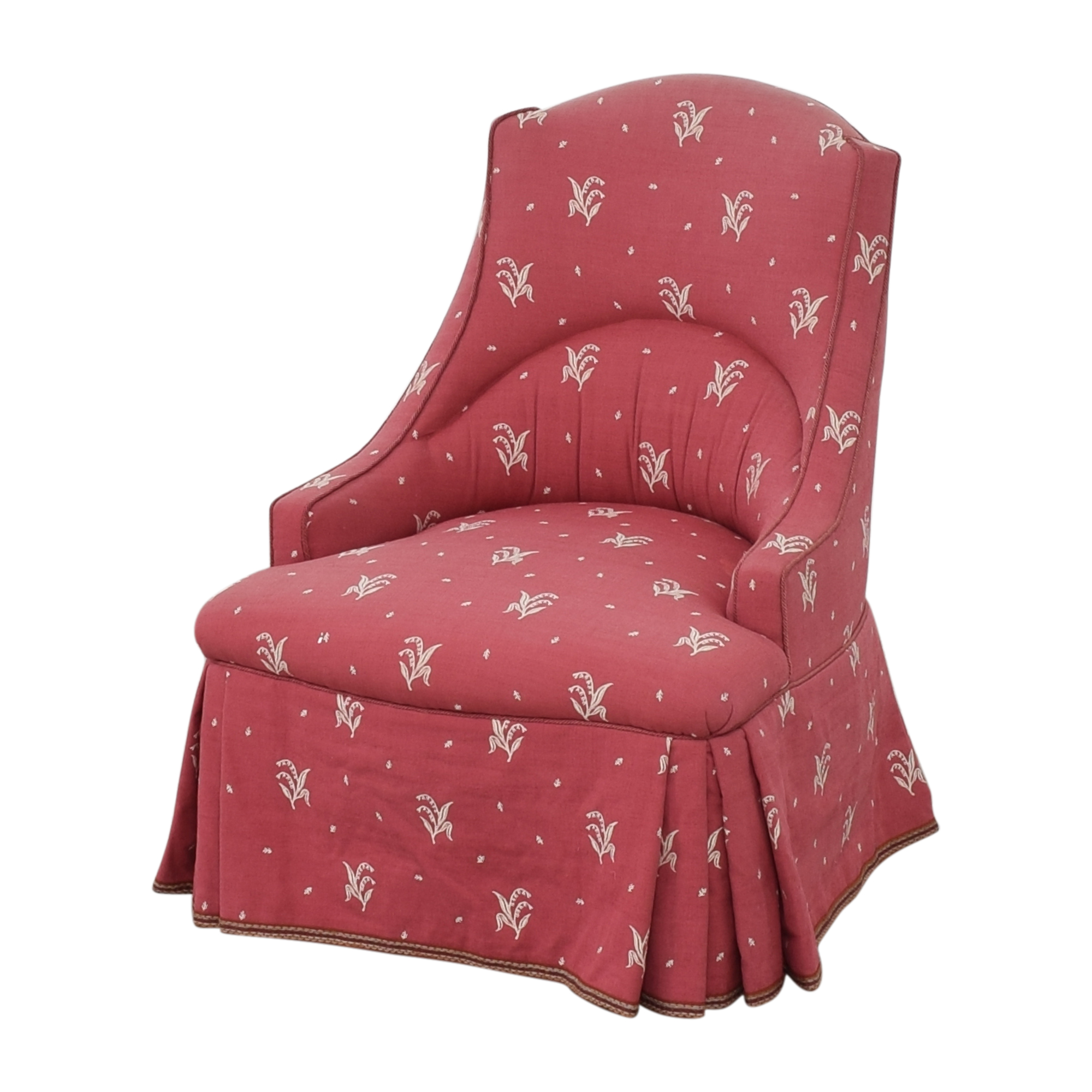 Patterned Skirted Slipper Chair nyc