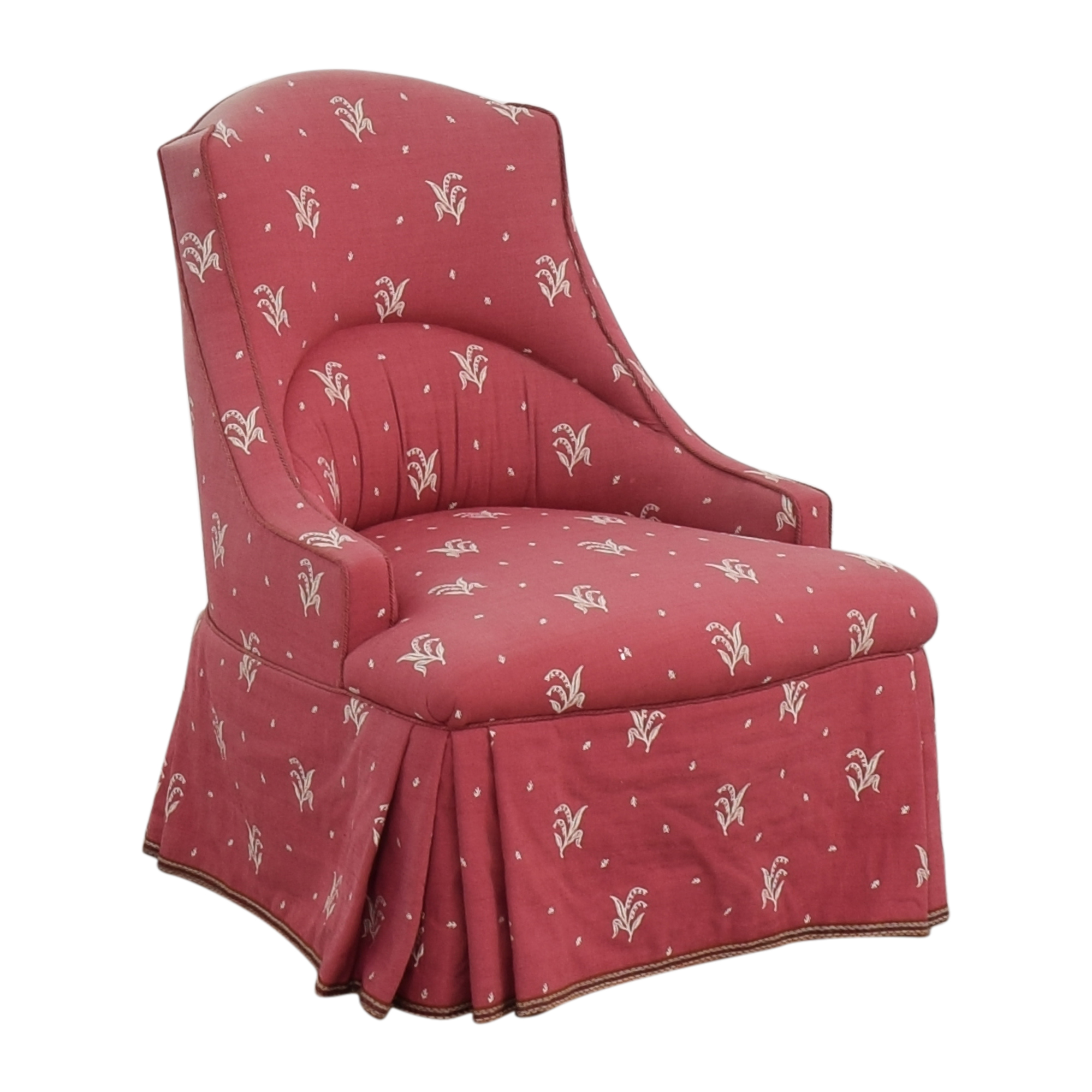 Patterned Skirted Slipper Chair dimensions