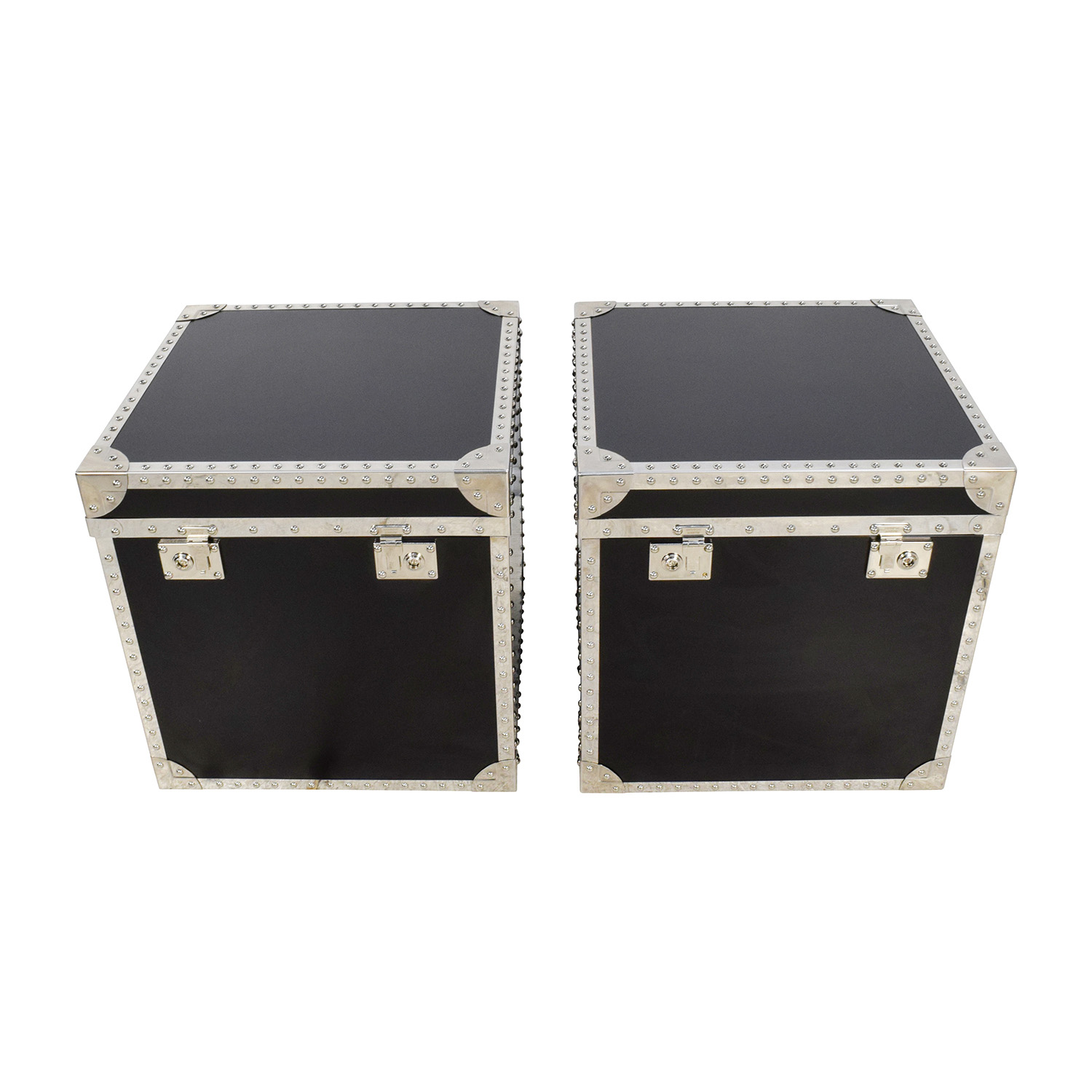 buy Pair of Trunk Side Tables Storage