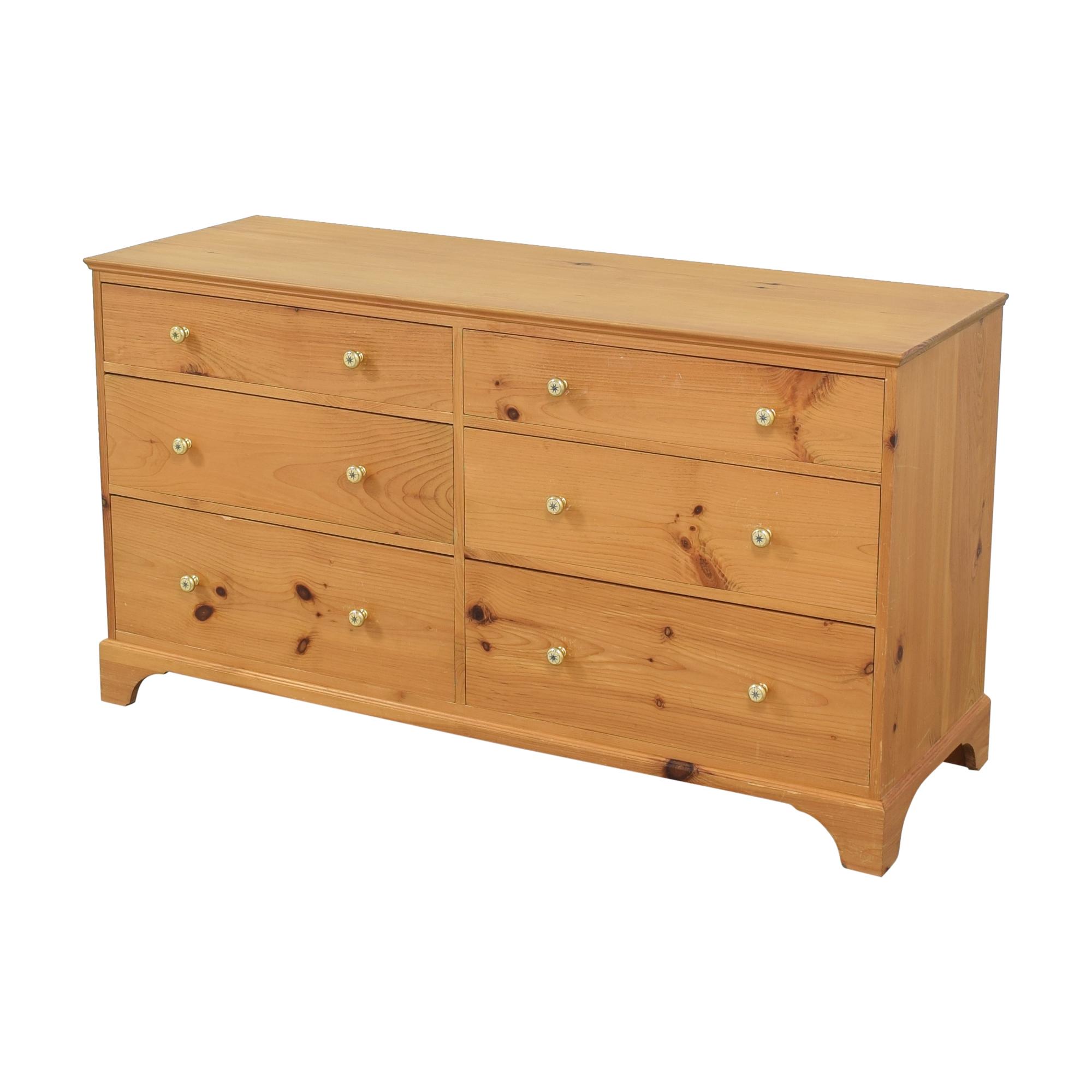 Six Drawer Double Dresser price