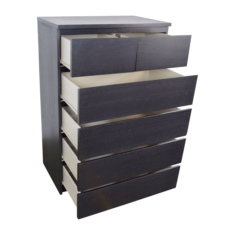 e5a71cb68eb8 45% OFF - IKEA IKEA Malm Tall 6-Drawer Dresser / Storage