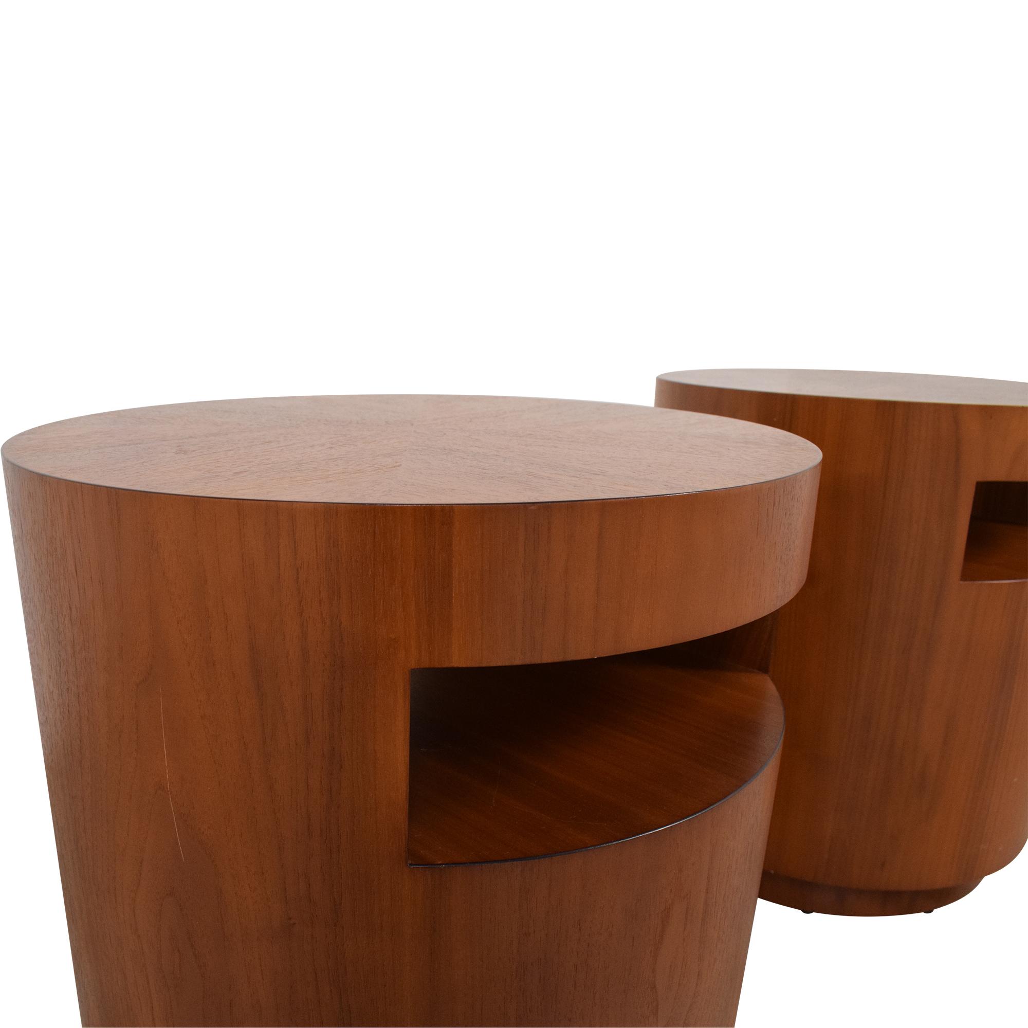 Crate & Barrel Crate & Barrel Tambe End Tables discount