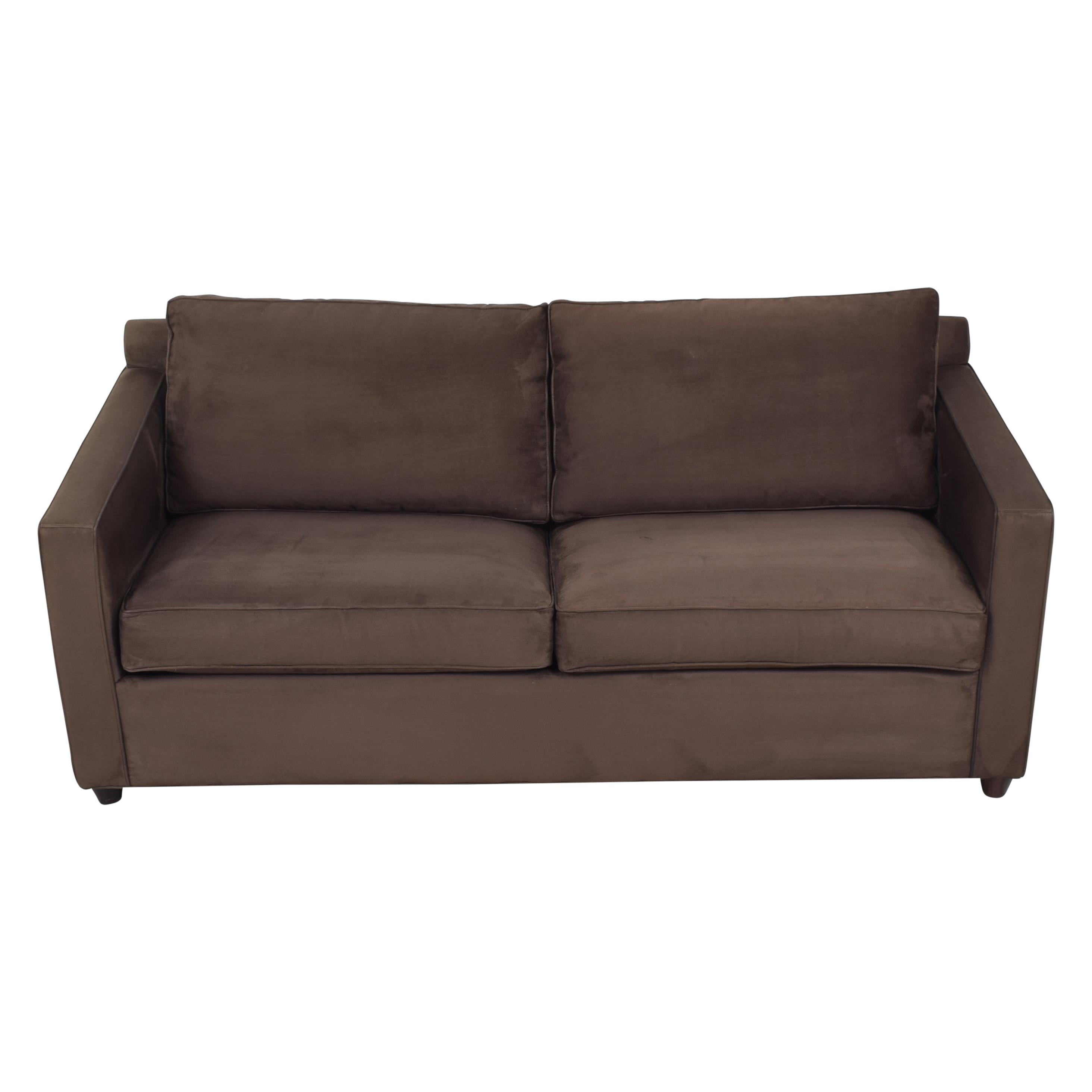 buy Crate & Barrel Barrett Queen Sleeper Sofa Crate & Barrel Sofas