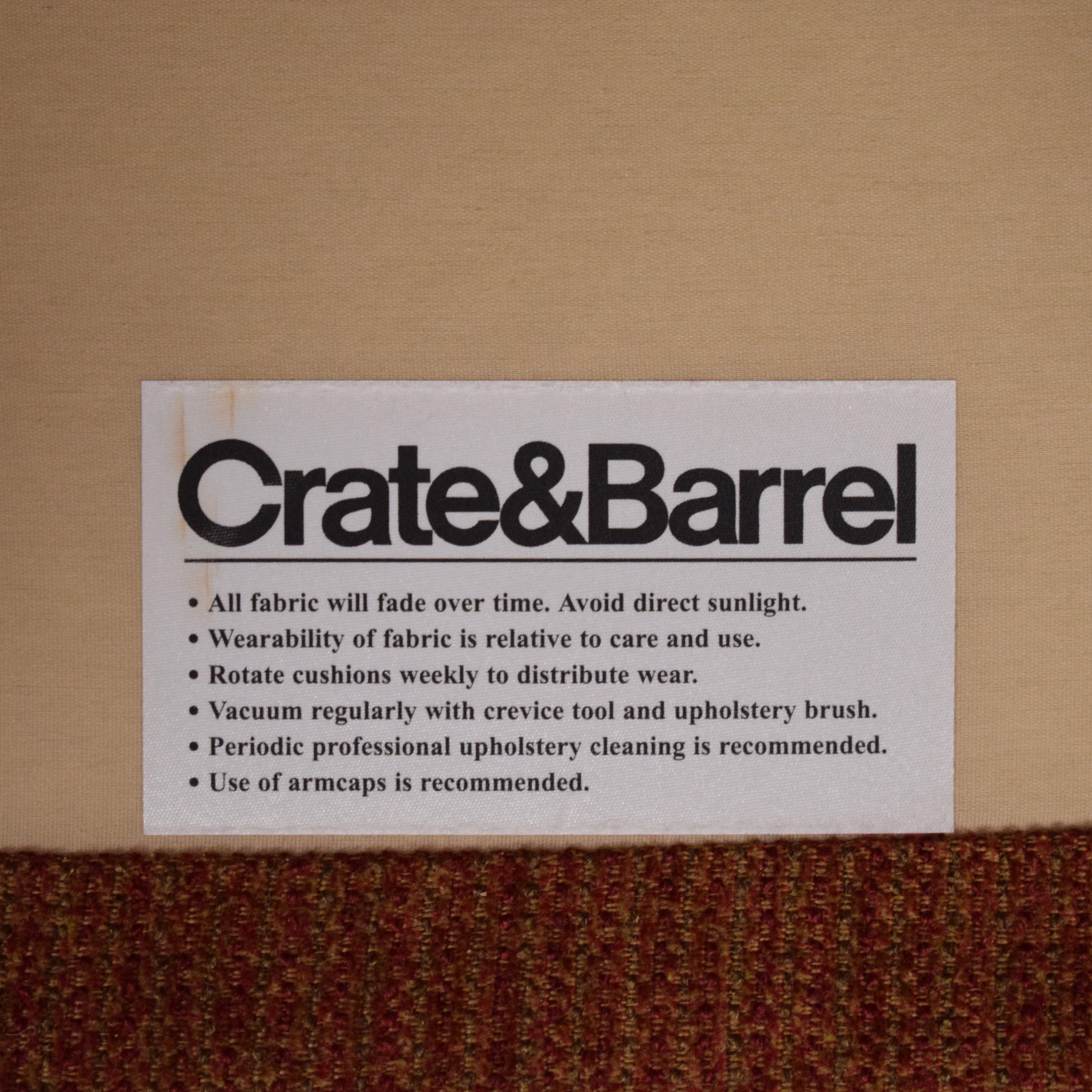 buy Crate & Barrel by Mitchell Gold Armchair Crate & Barrel Chairs