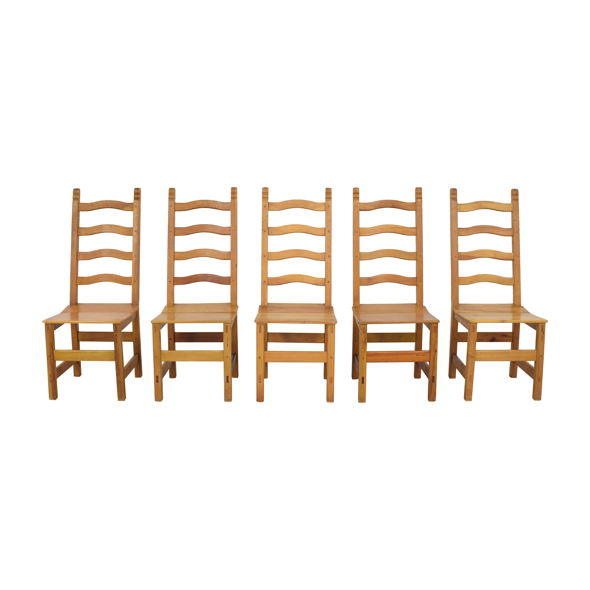 Ladder Back Chiliean Dining Chairs pa