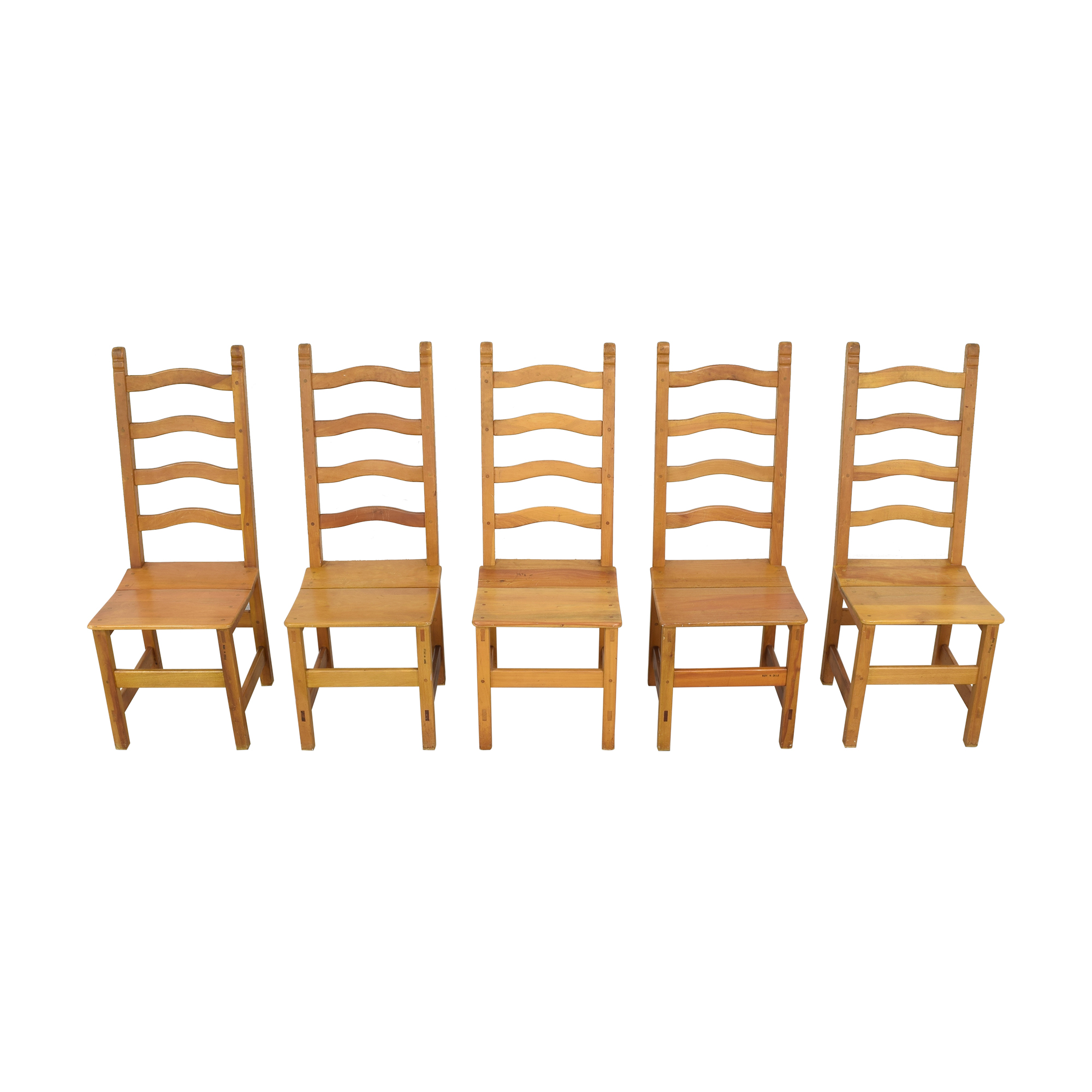 Ladder Back Chiliean Dining Chairs dimensions