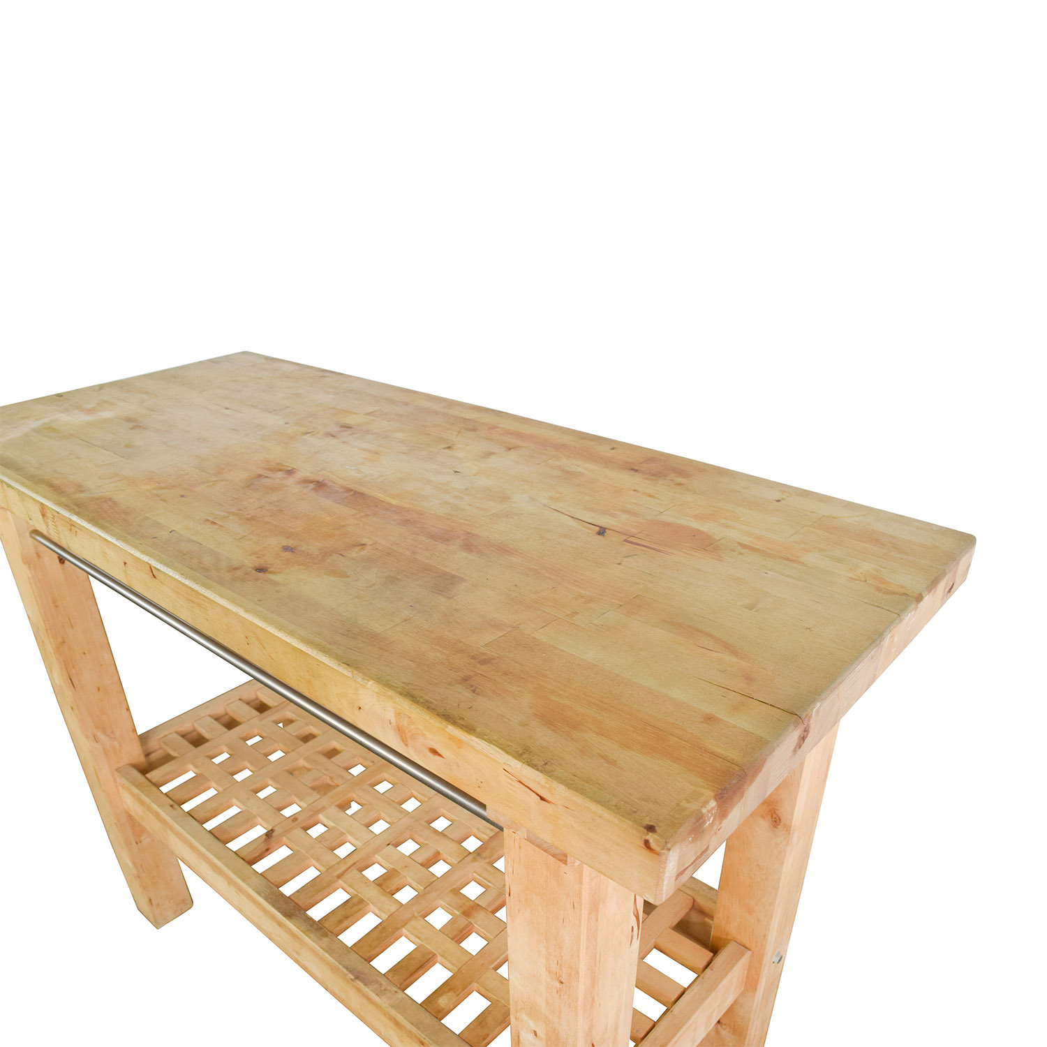 72 Off Ikea Ikea Butcher S Block Table Tables